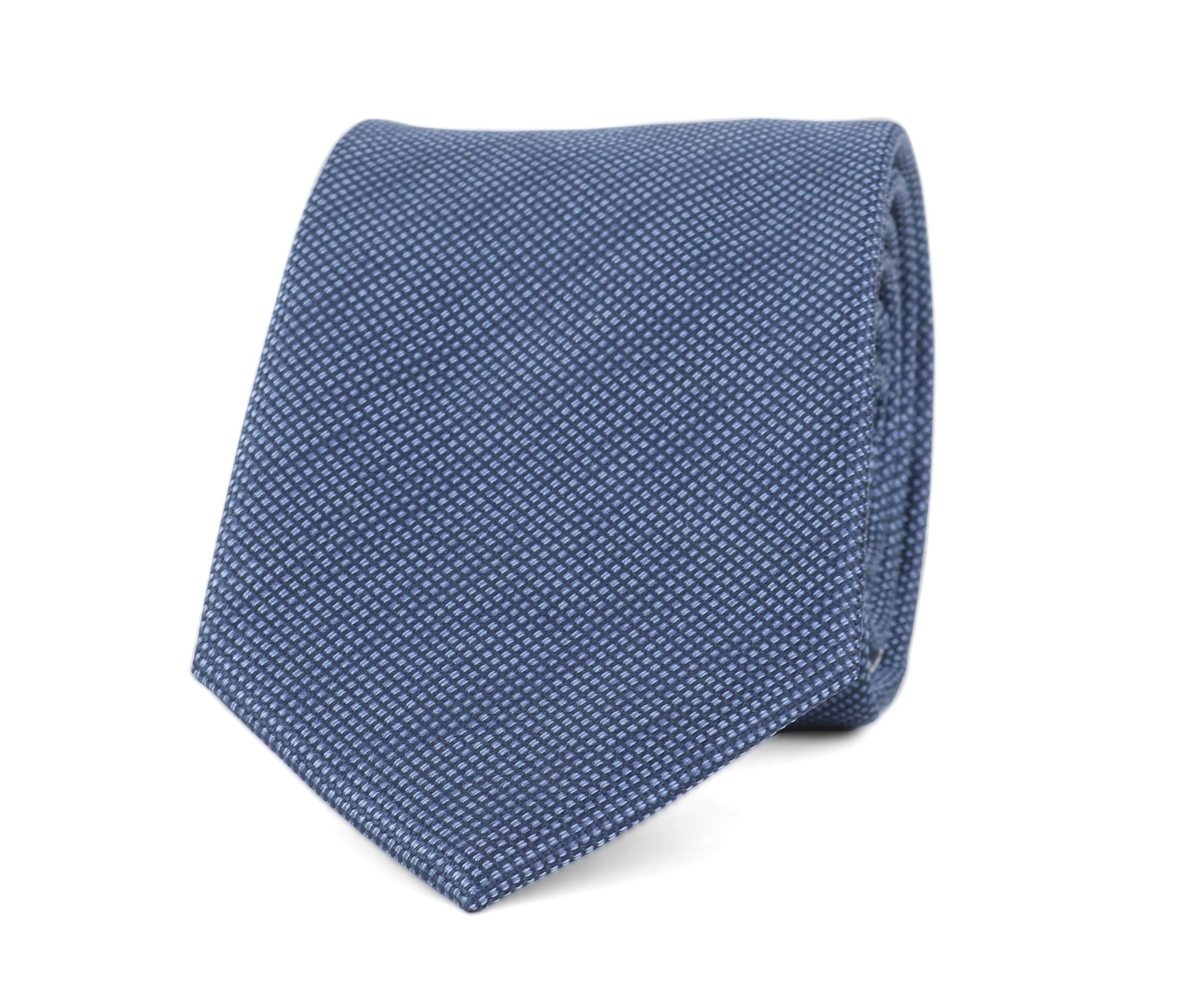 Krawatte Seide Pinpoint Dunkeblau 9-17 foto 0