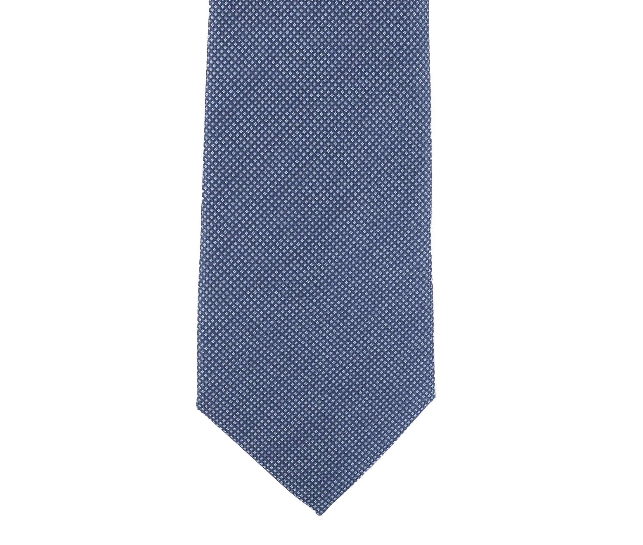 Krawatte Seide Pinpoint Dunkeblau 9-17 foto 1