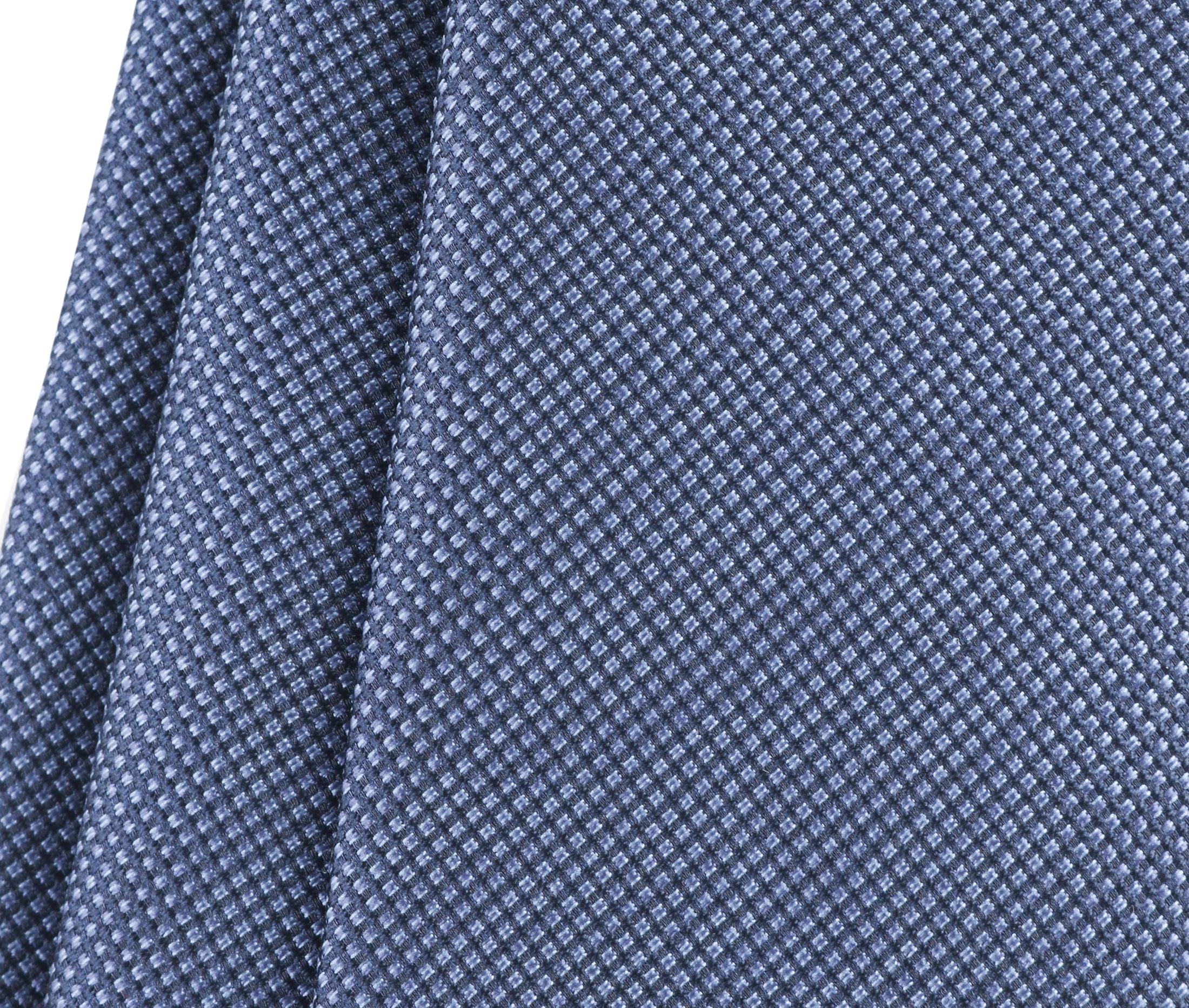 Krawatte Seide Pinpoint Dunkeblau 9-17 foto 2