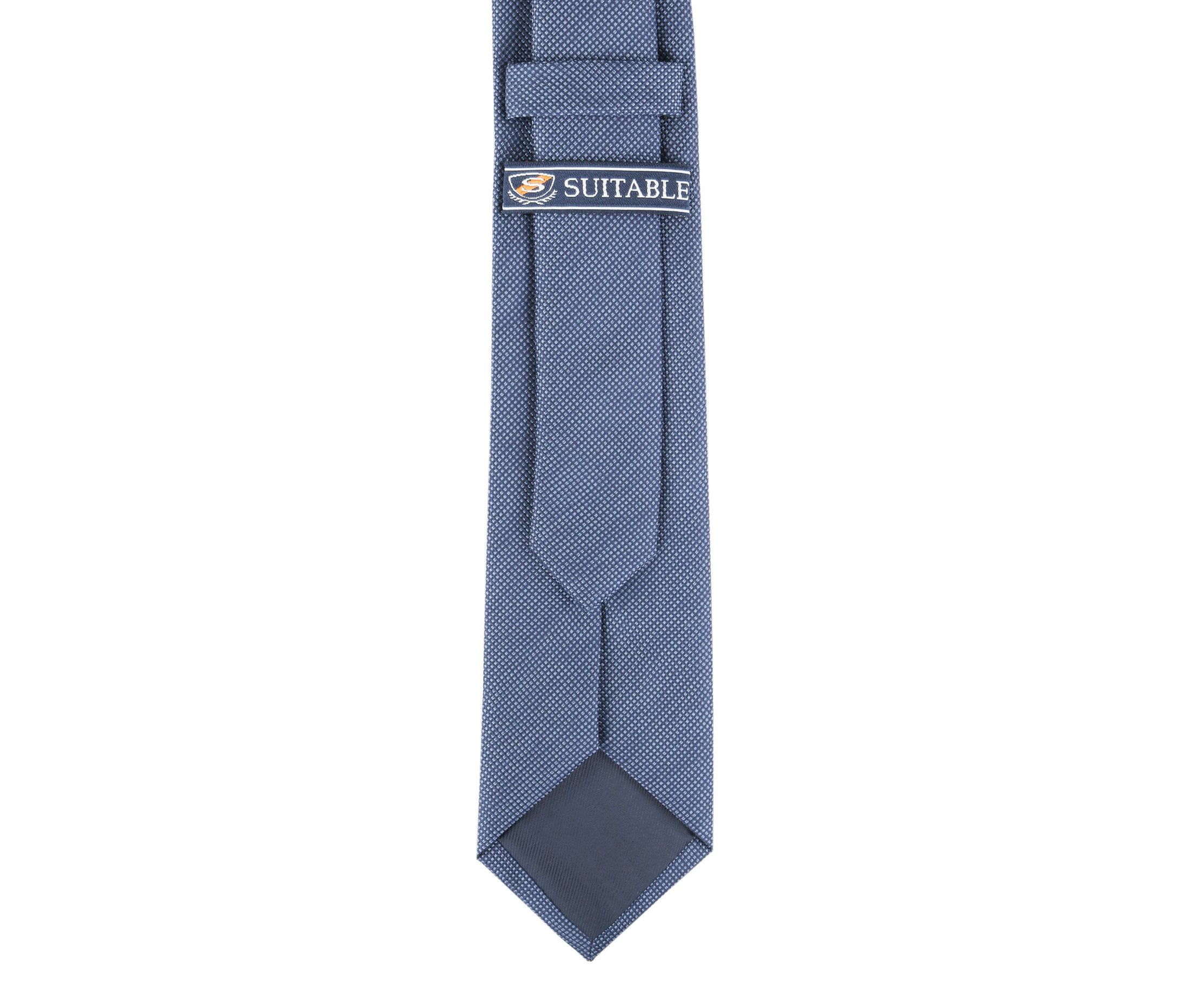 Krawatte Seide Pinpoint Dunkeblau 9-17 foto 3