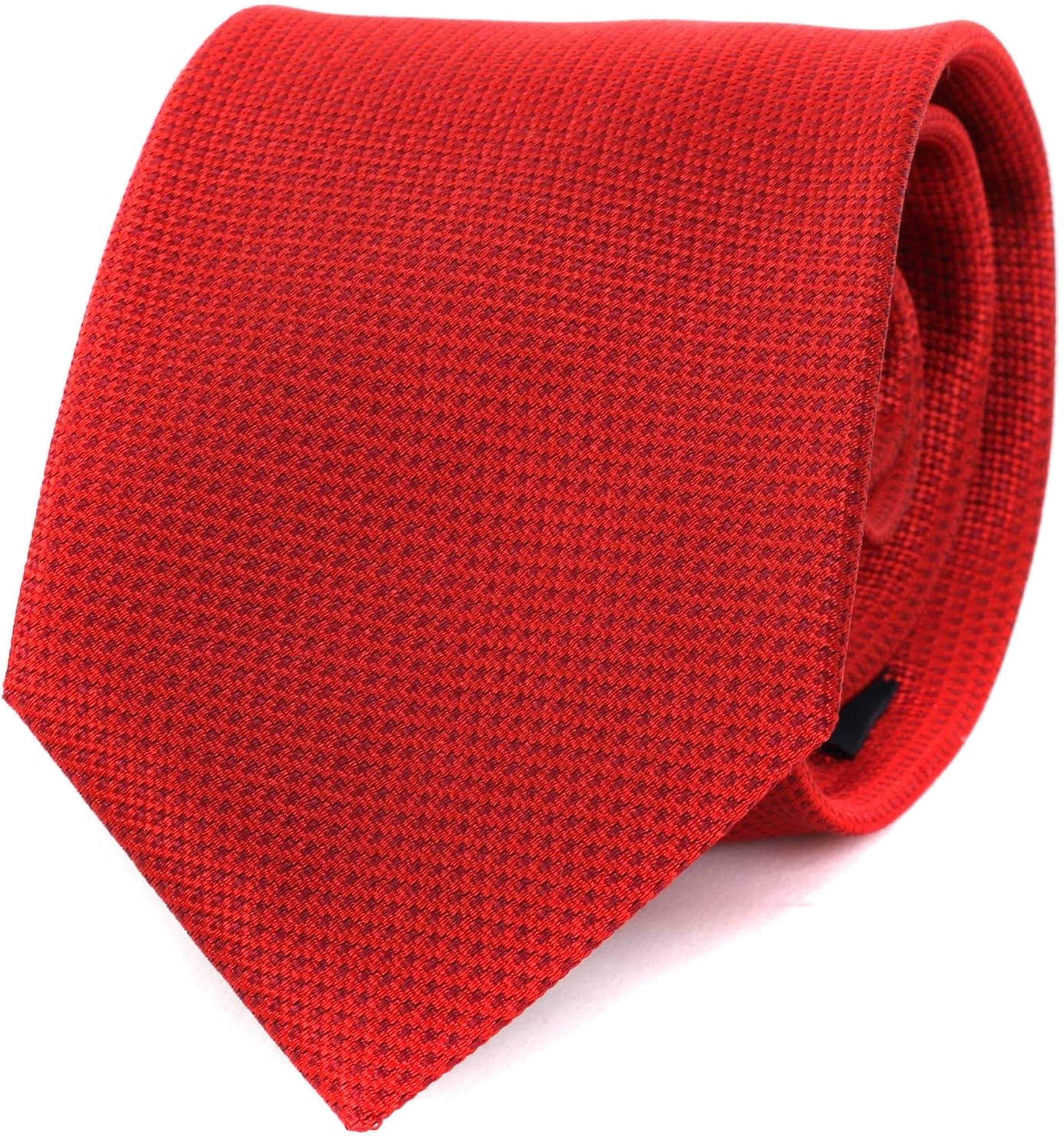 Krawatte Seide Rot Motiv foto 0