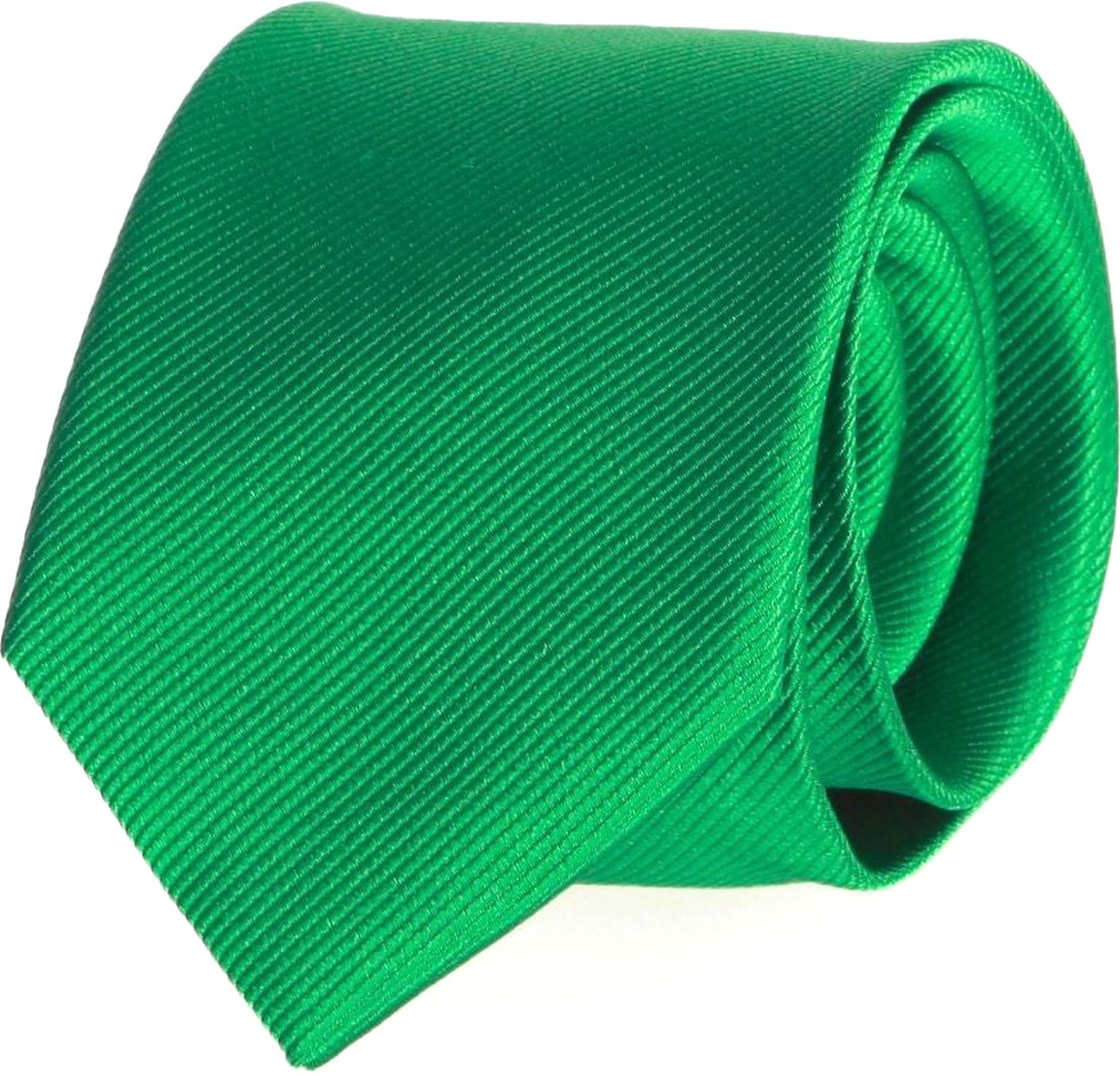 Krawatte Seide Smaragdgrün Uni F68 foto 0