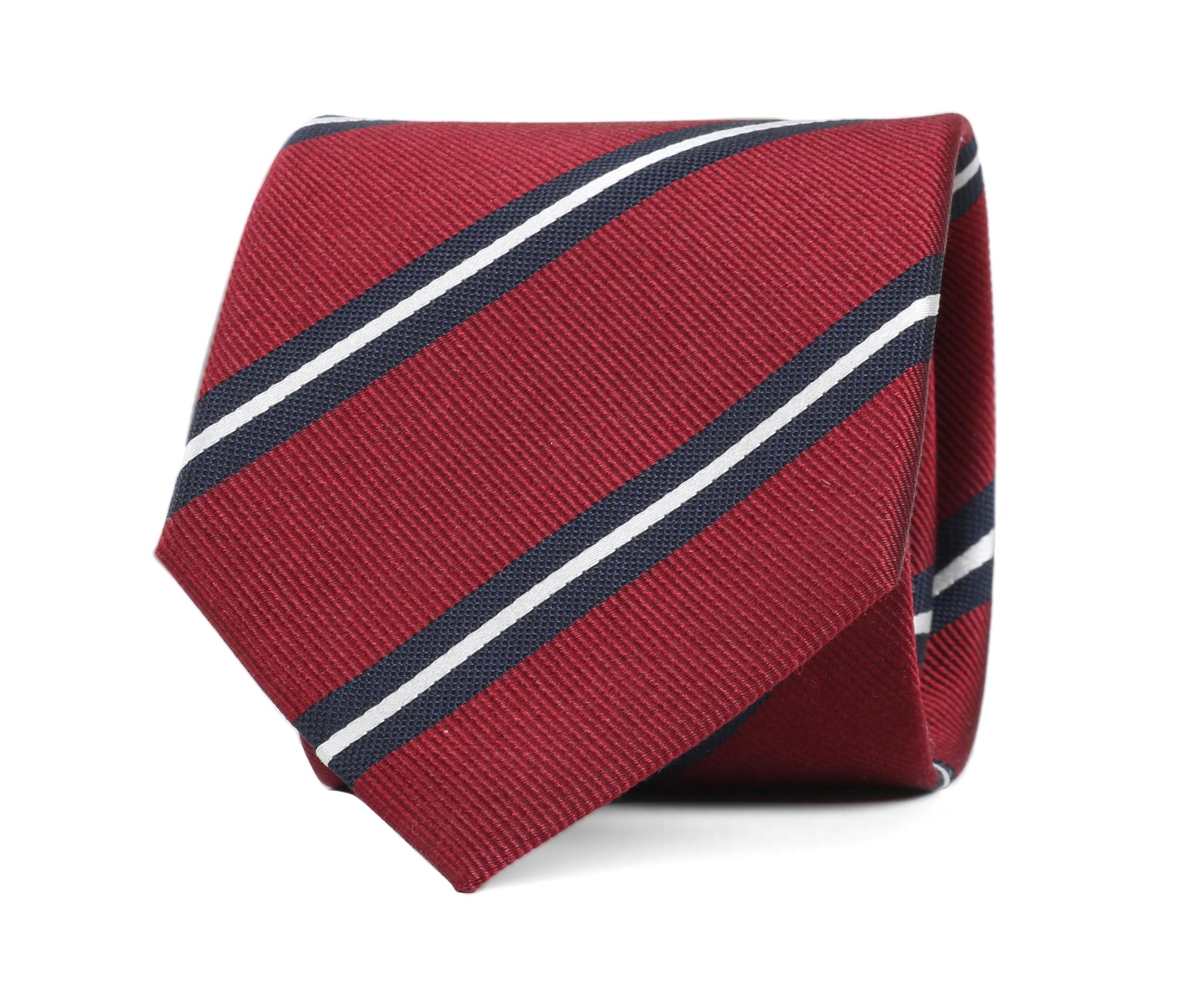 Krawatte Seide Streifen Rot foto 0