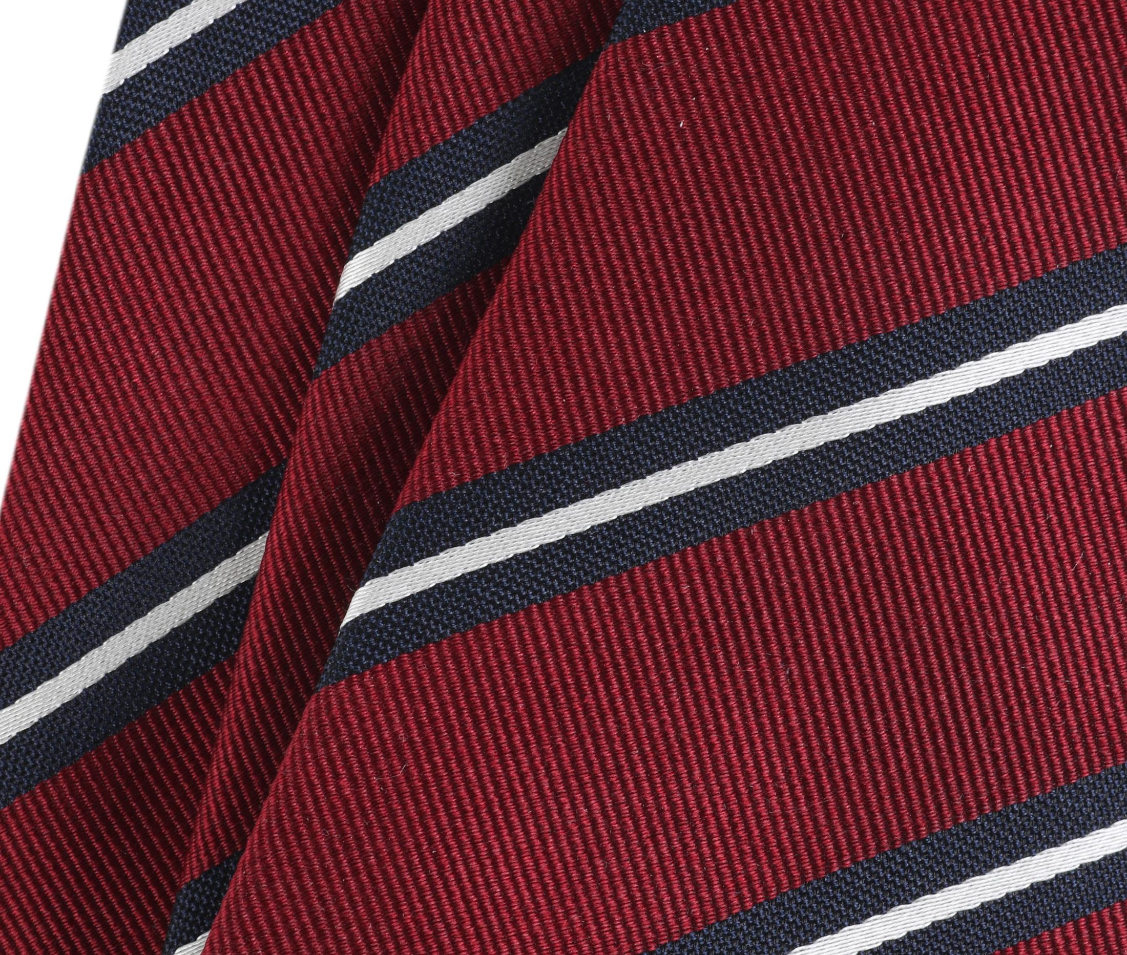 Krawatte Seide Streifen Rot foto 1