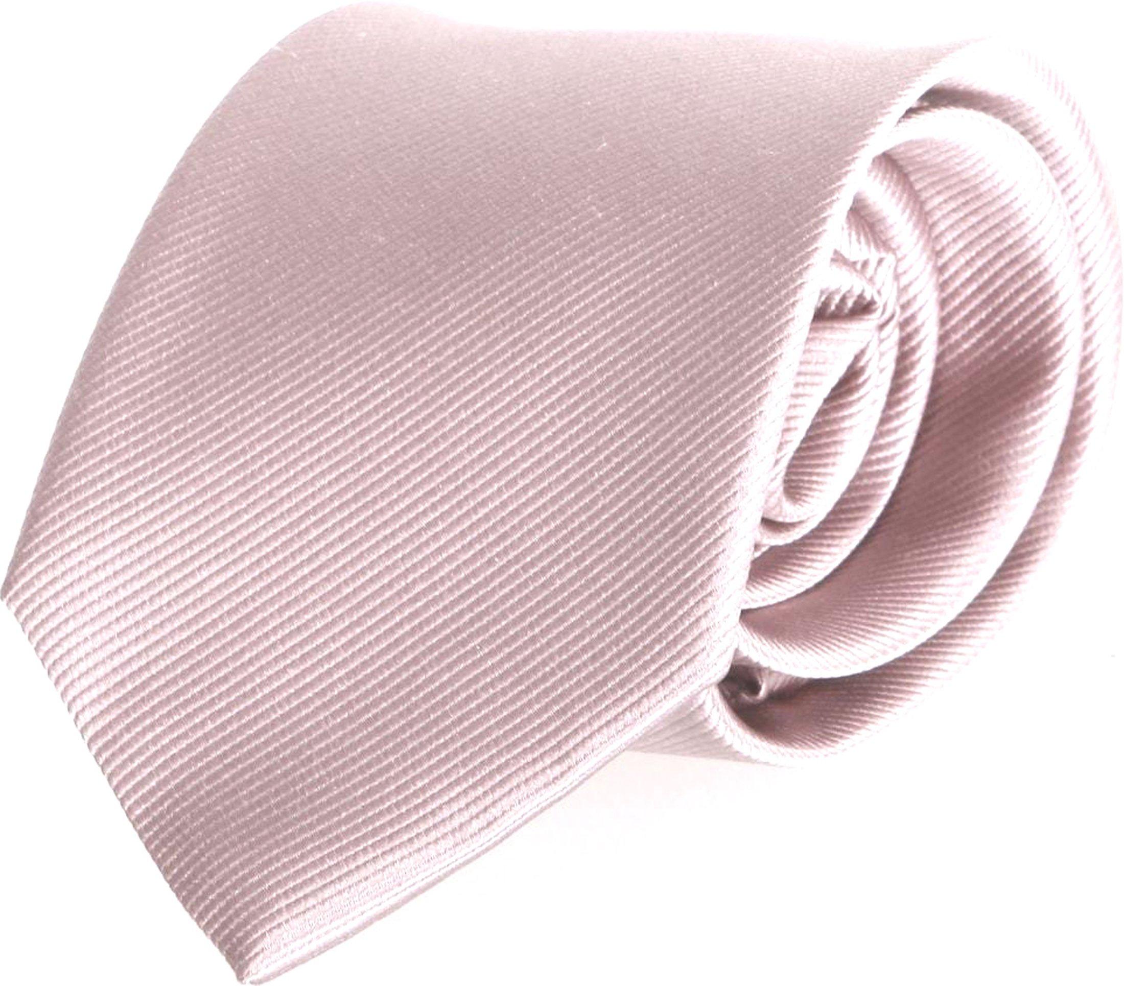 Krawatte Seide Taupe Uni F69 Foto 0