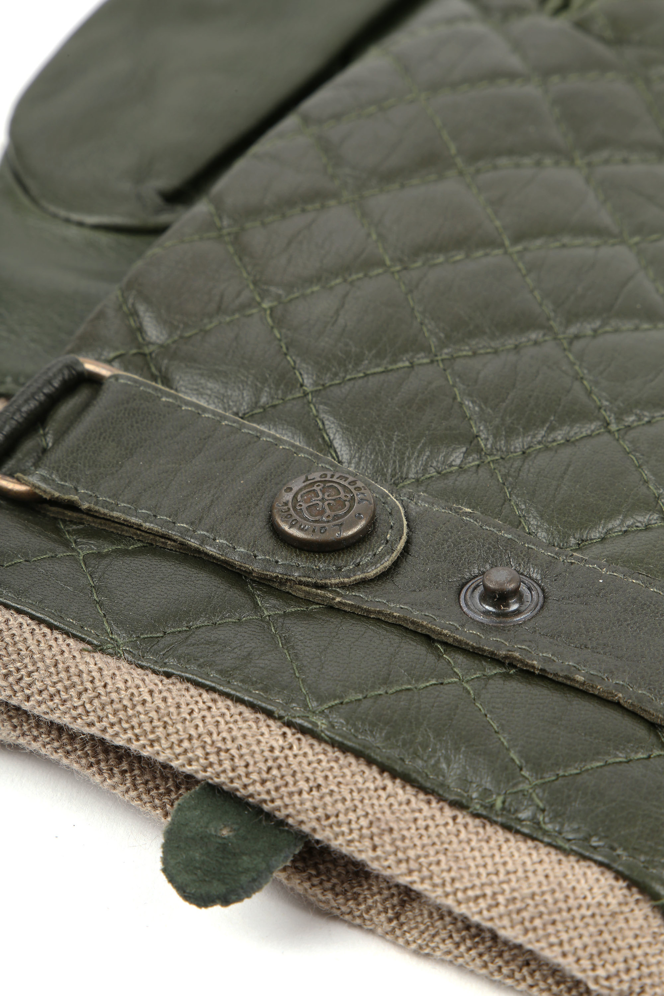 Laimbock Quilted Gloves Blacos Olive