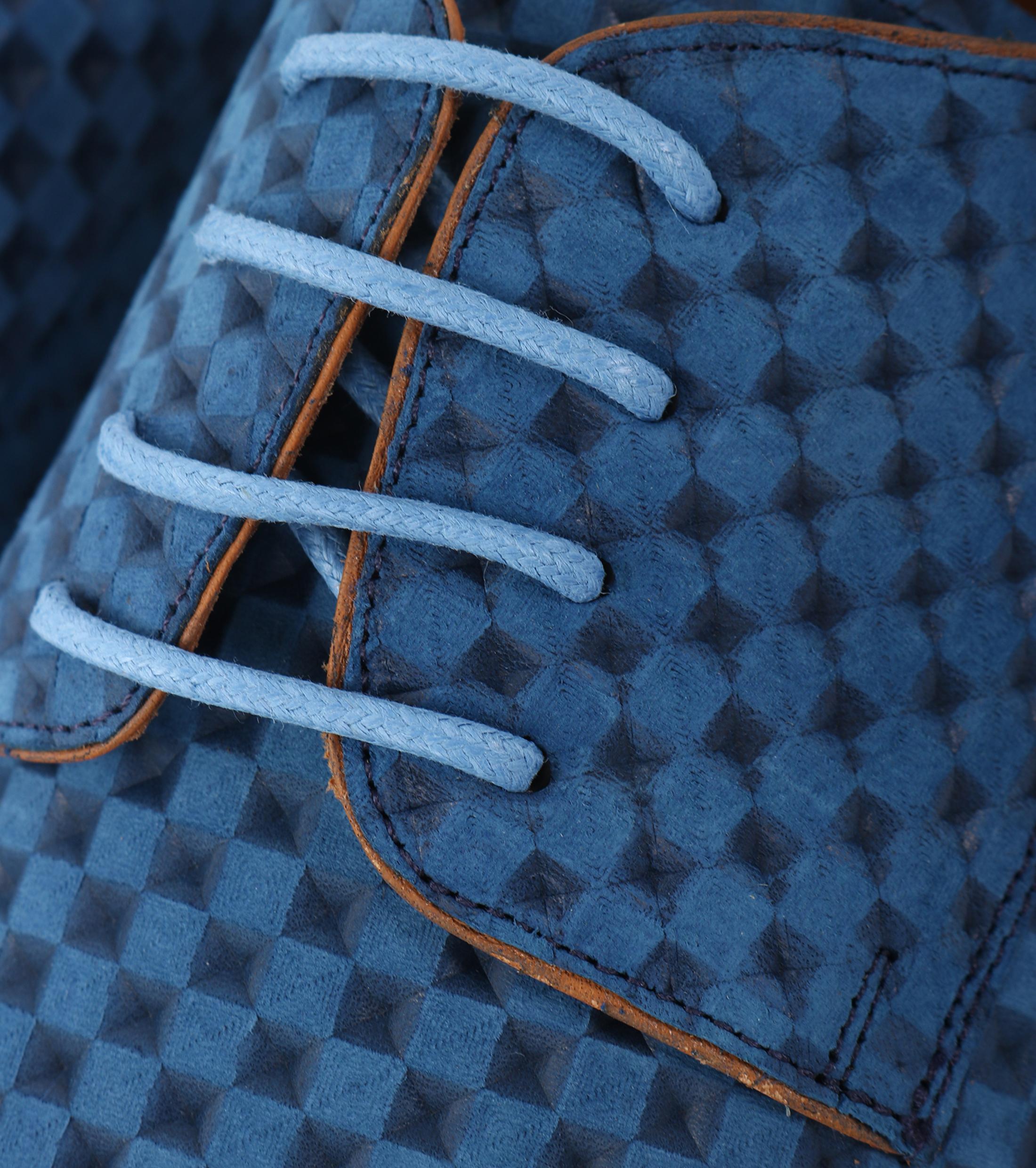 Leder Schuh Blau foto 1
