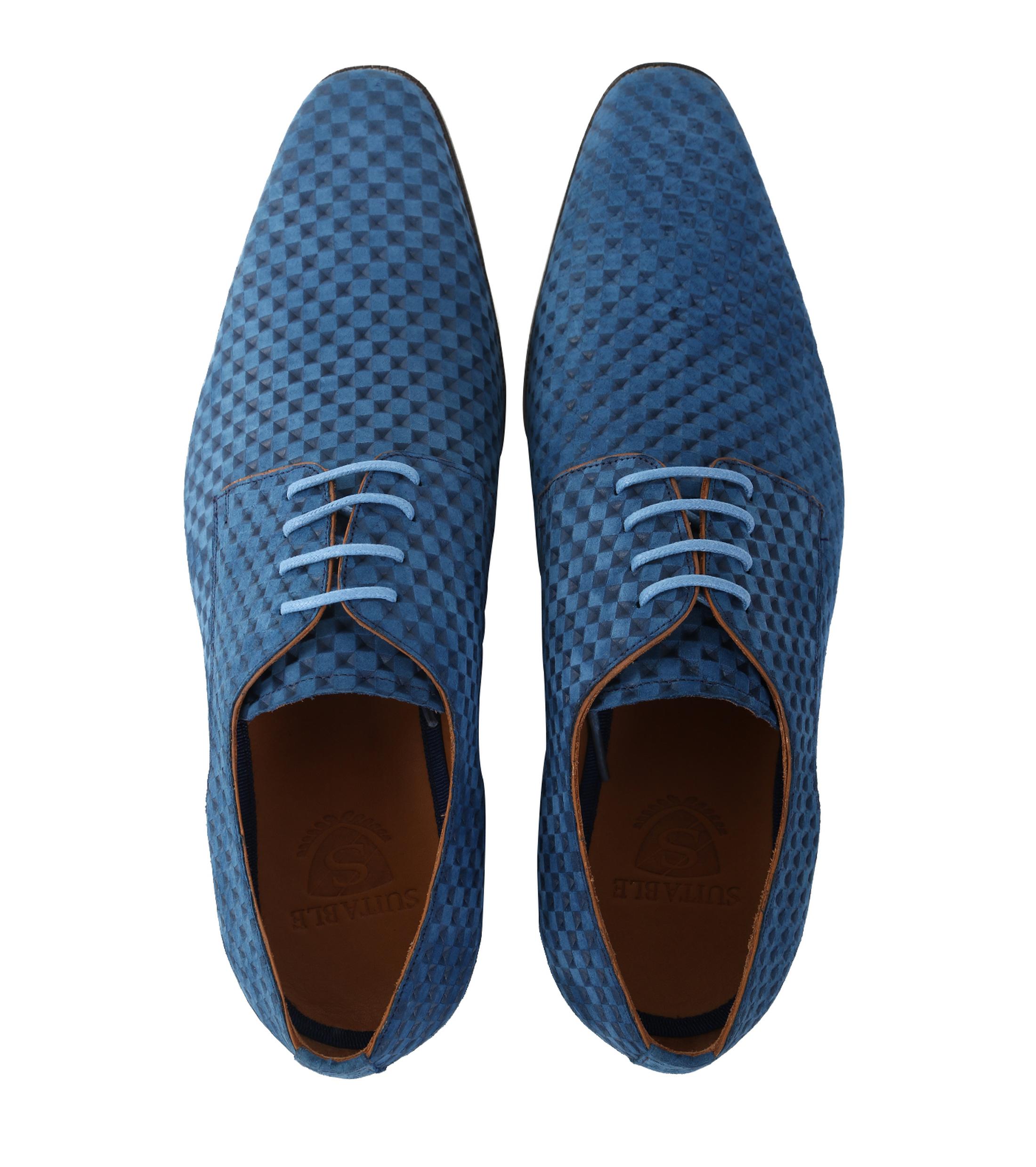 Leder Schuh Blau foto 3