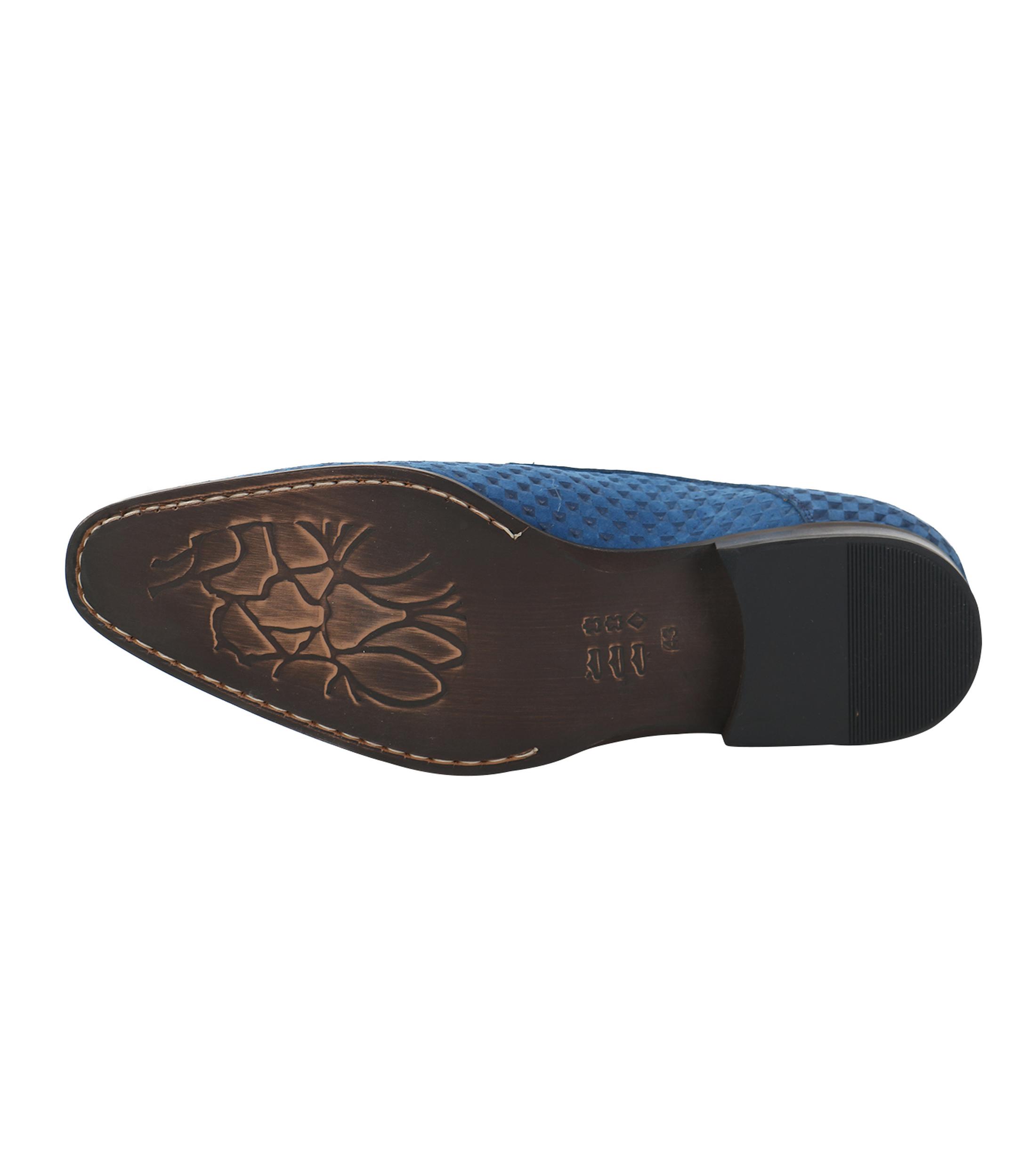 Leder Schuh Blau foto 4