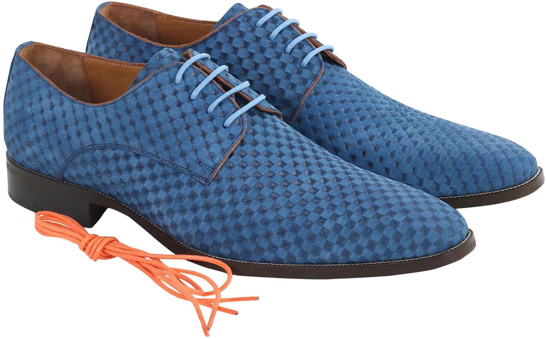 Leder Schuh Blau foto 0