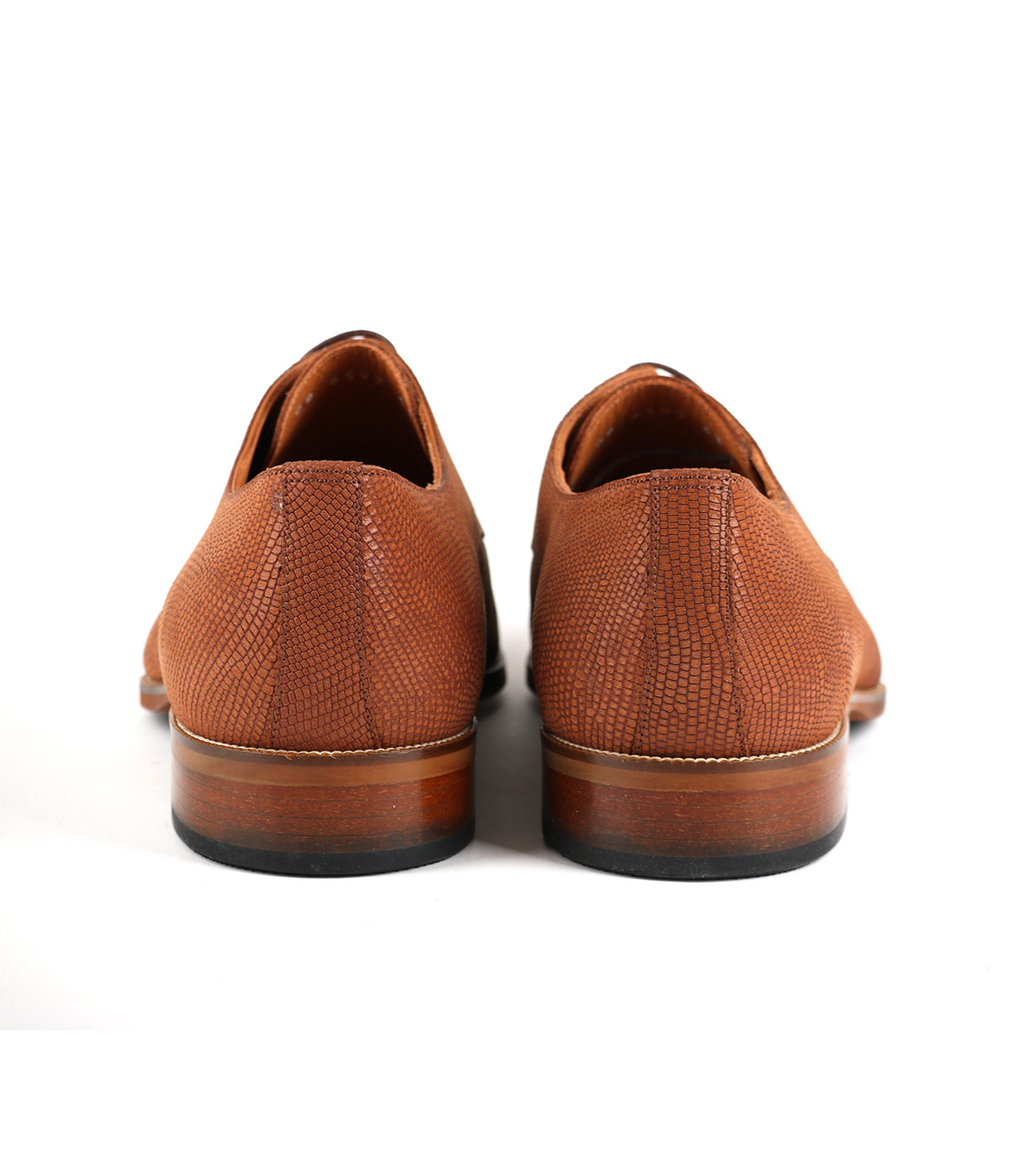 Leder Schuh Cognac foto 2