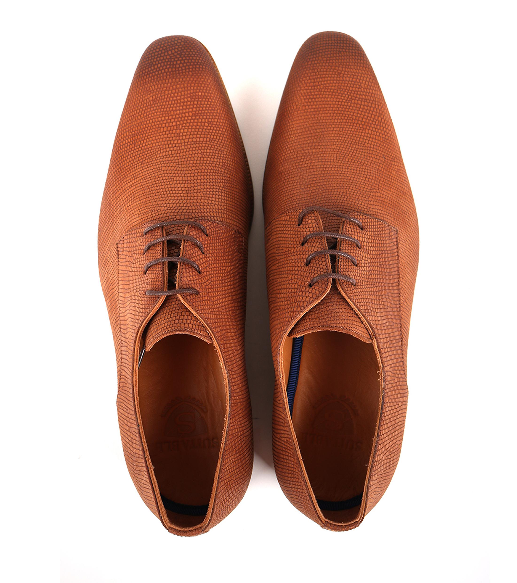 Leder Schuh Cognac foto 3
