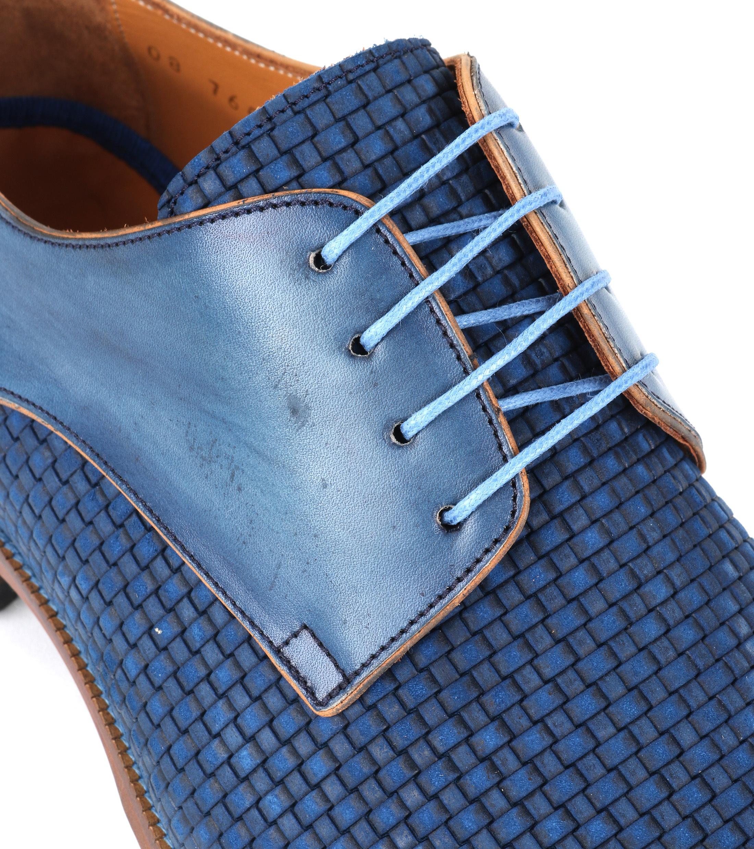 Leder Schuh Zopf Blau foto 1