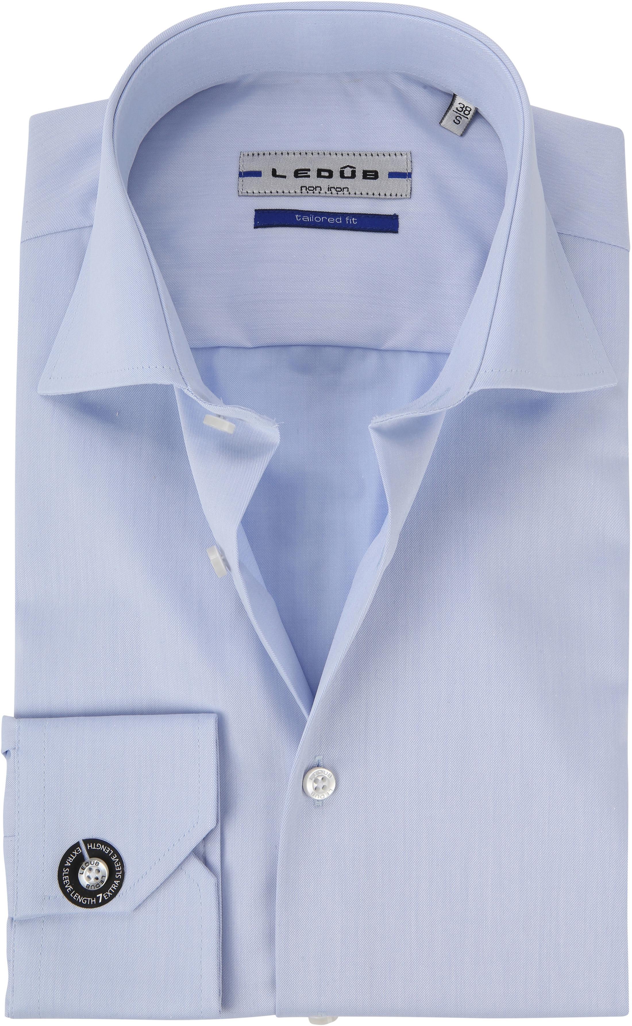 Ledub Hemd Bügelfrei Blau Sleeve 7 foto 0