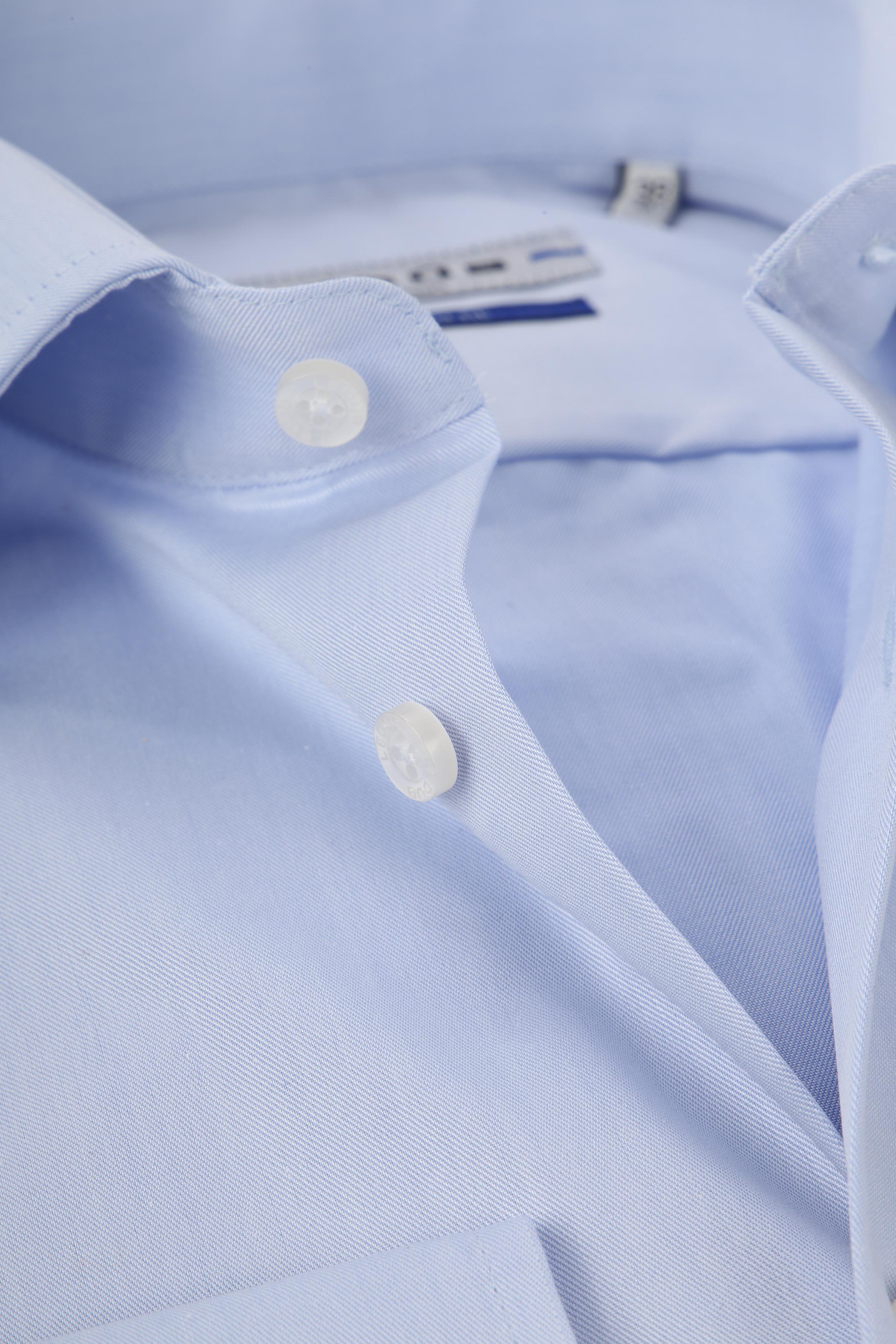 Ledub Hemd Bügelfrei Blau Sleeve 7 foto 1
