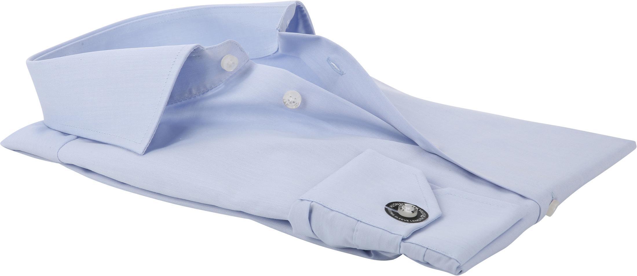 Ledub Hemd Bügelfrei Blau Sleeve 7 foto 3