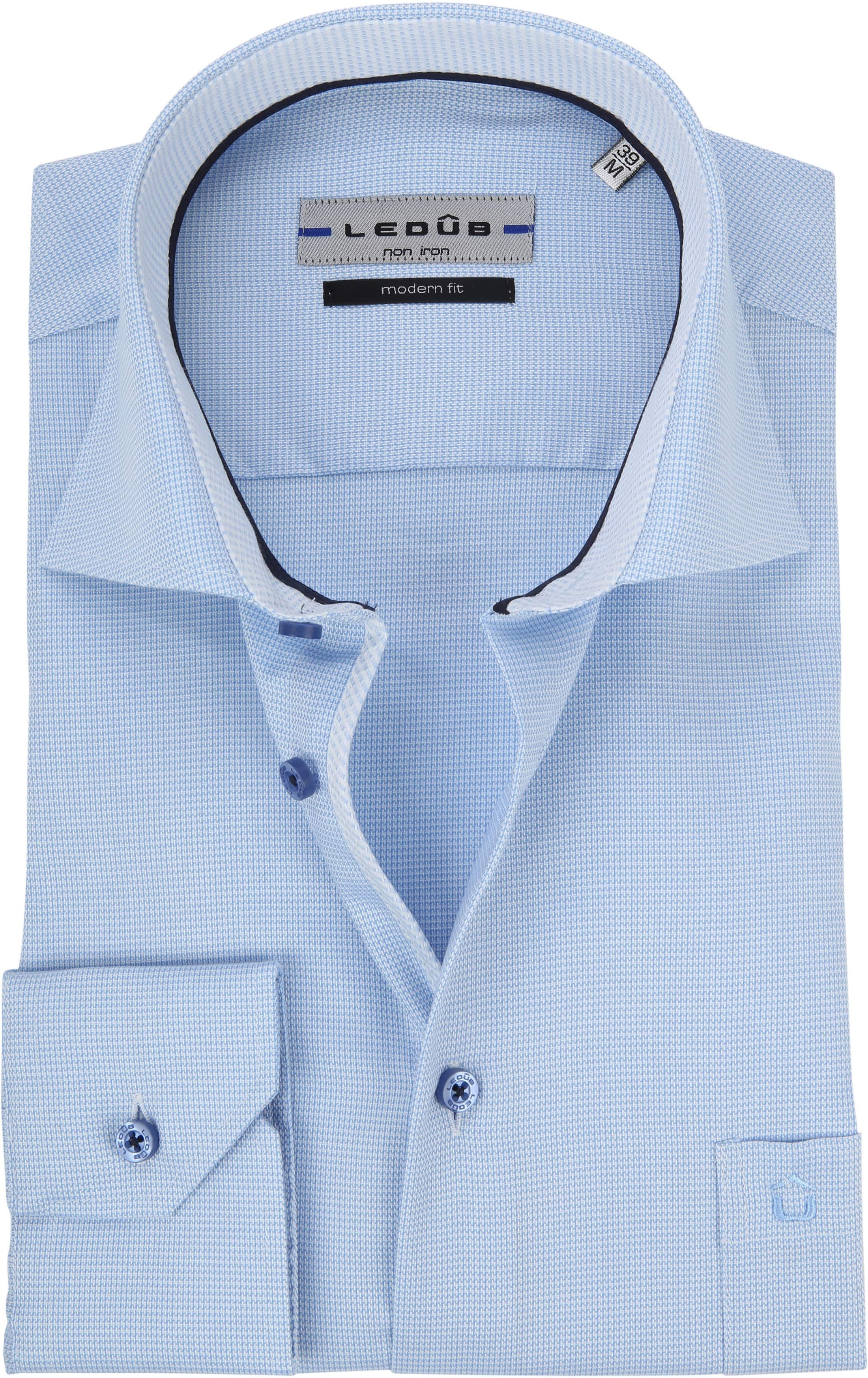 Ledub Overhemd Blauw Non Iron MF foto 0