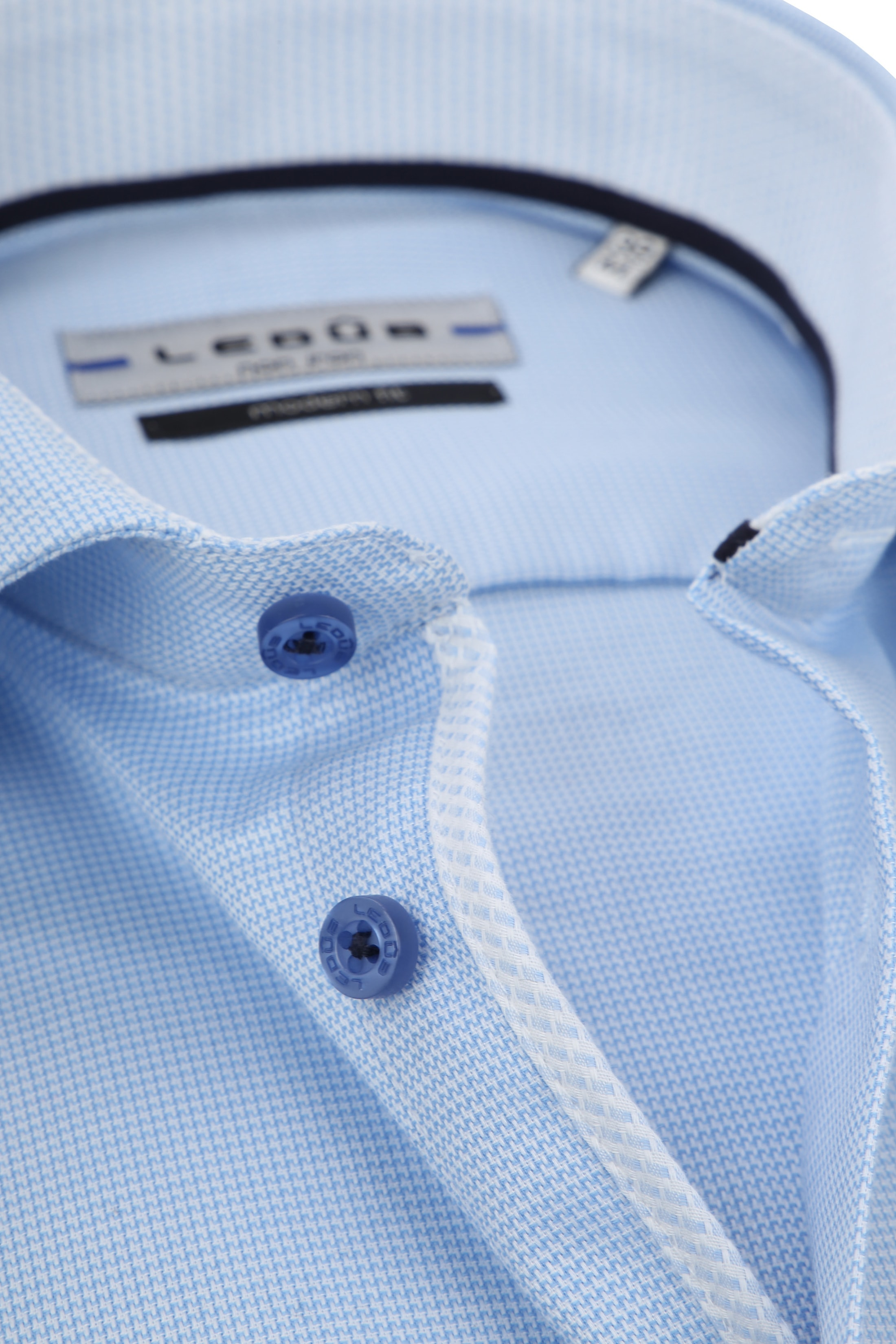 Ledub Overhemd Blauw Non Iron MF foto 1