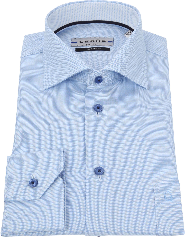 Ledub Overhemd Blauw Non Iron MF foto 2