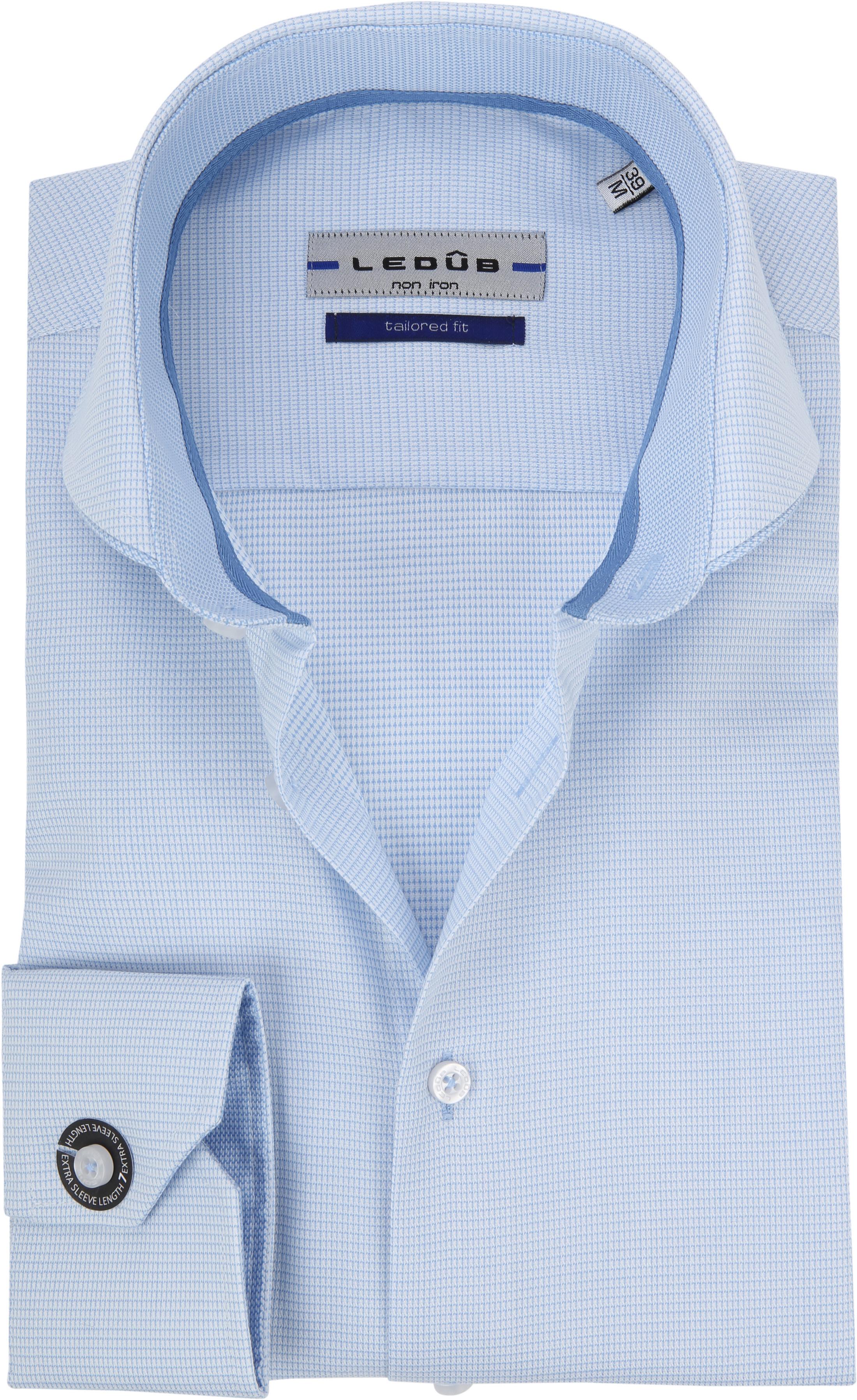 Ledub Overhemd Blauw Non Iron SL7 foto 0