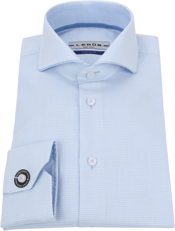 Ledub Overhemd Blauw Non Iron SL7 foto 2
