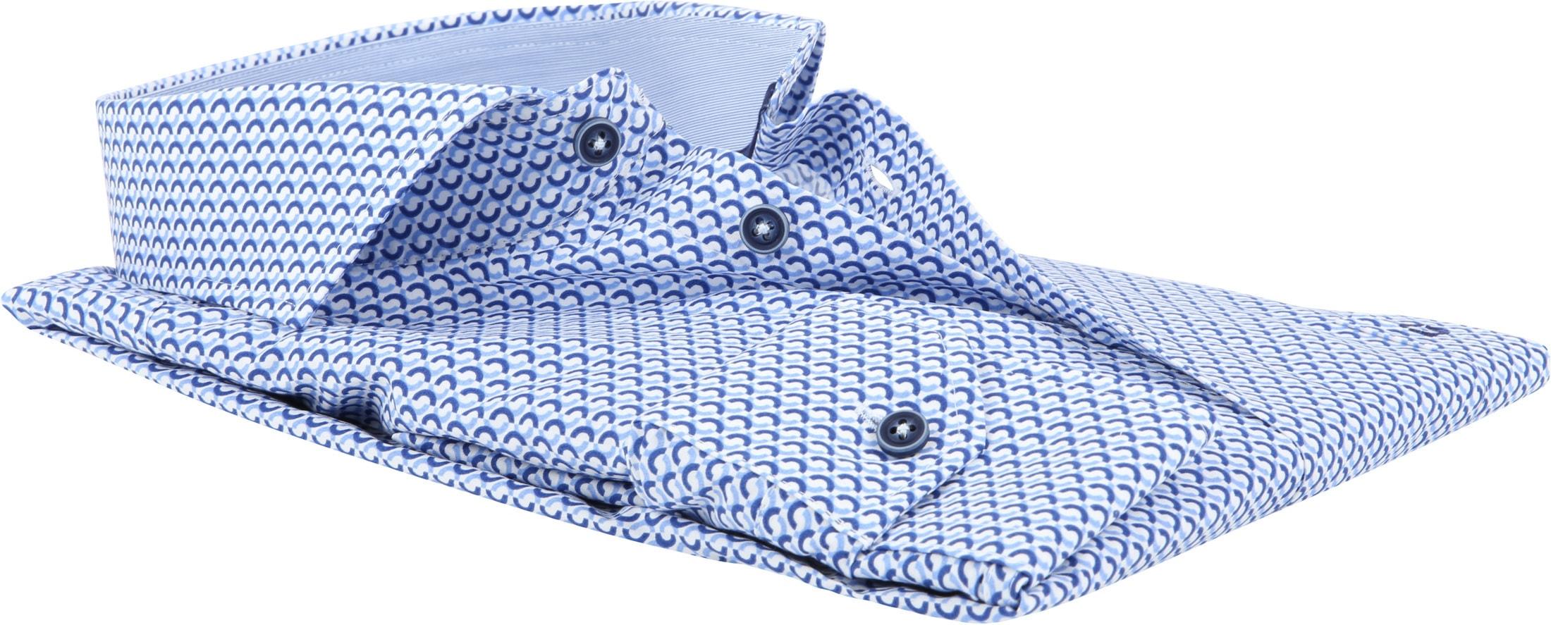 Ledub Overhemd Blauw Patroon foto 3
