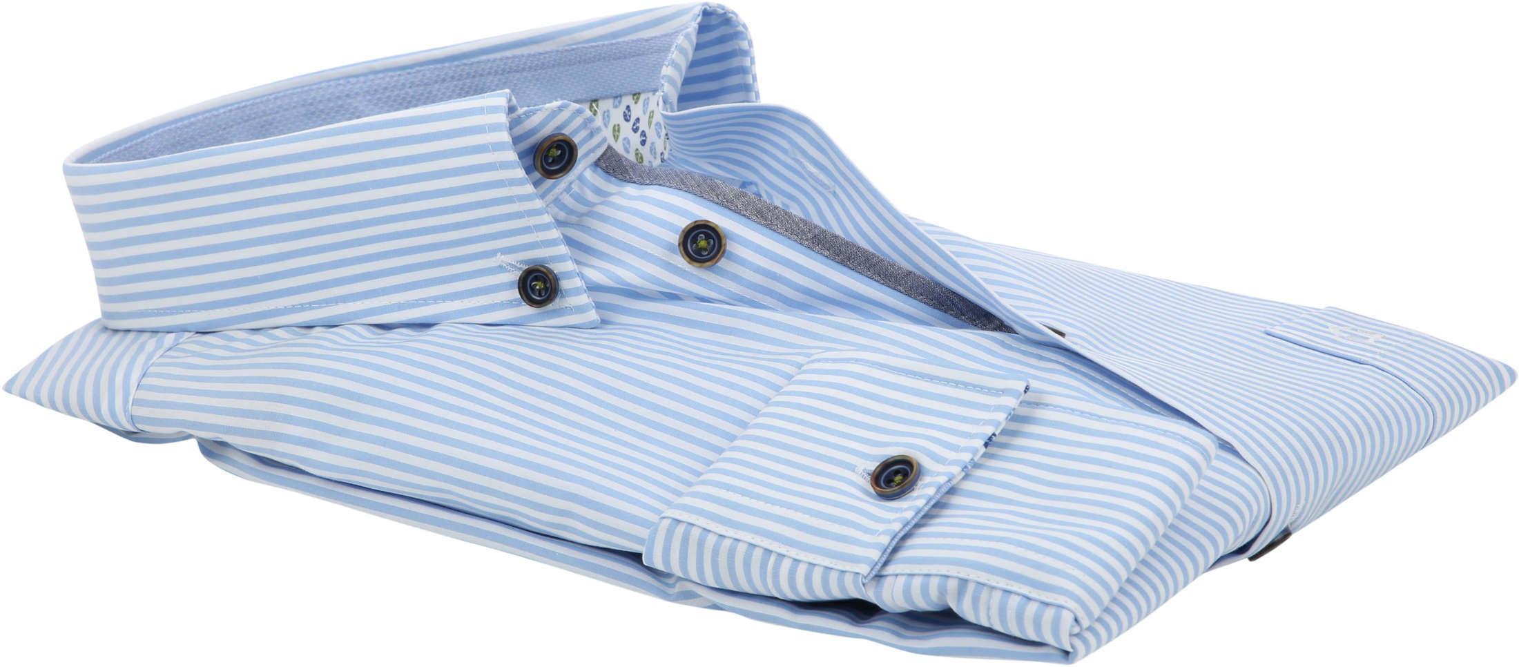 Ledub Overhemd Blauw Strepen foto 3