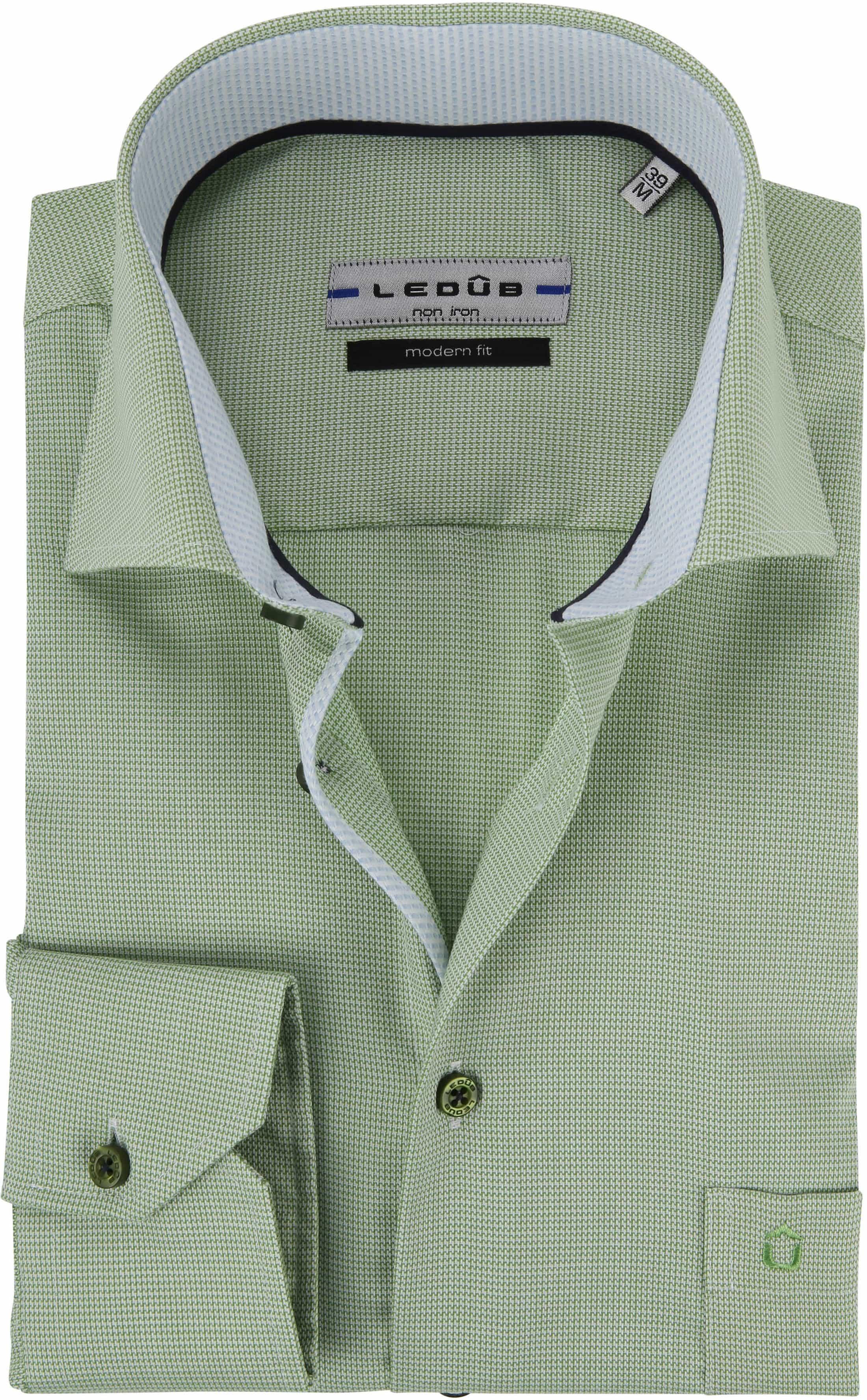 Ledub Overhemd Groen Non Iron MF foto 0