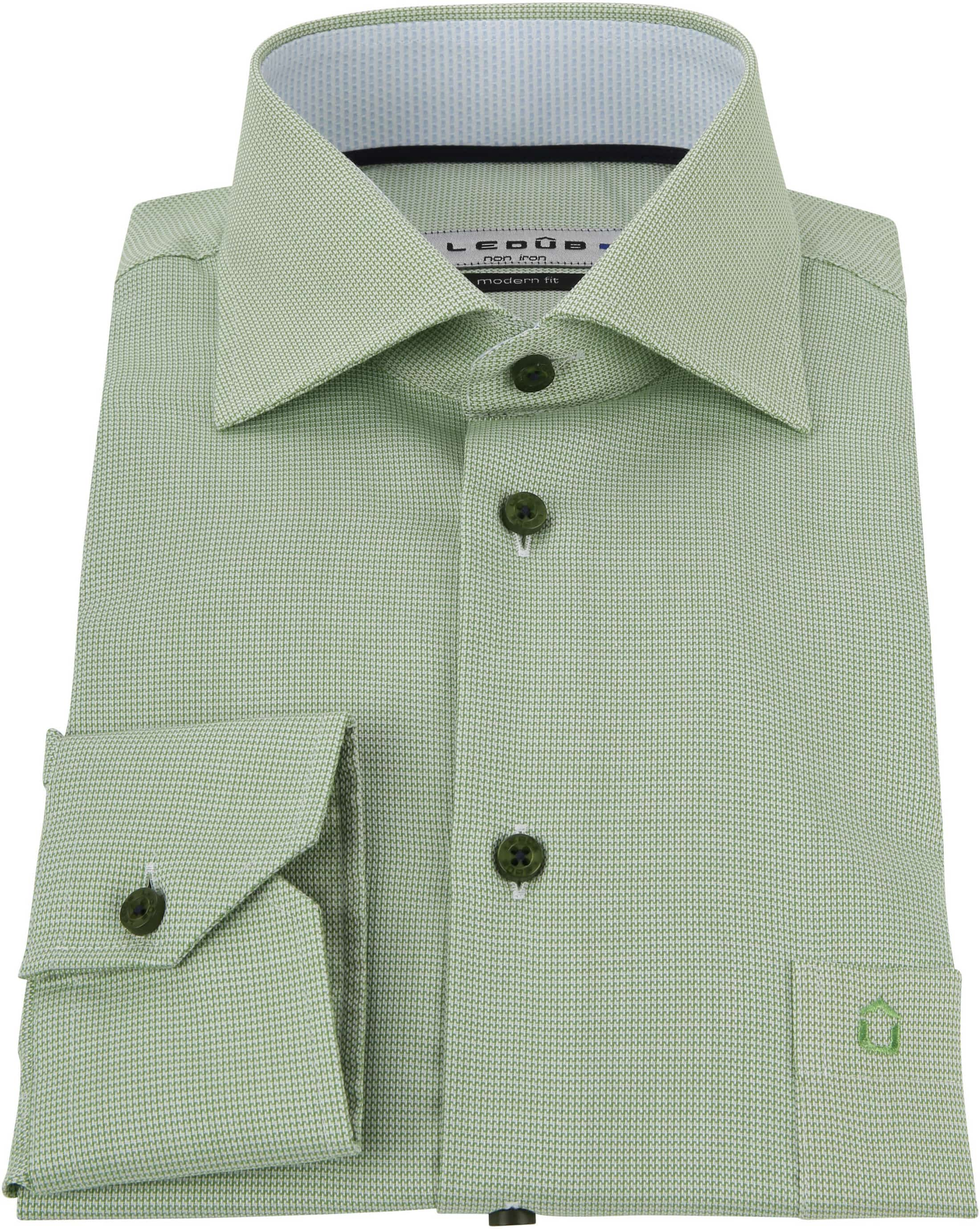 Ledub Overhemd Groen Non Iron MF foto 2