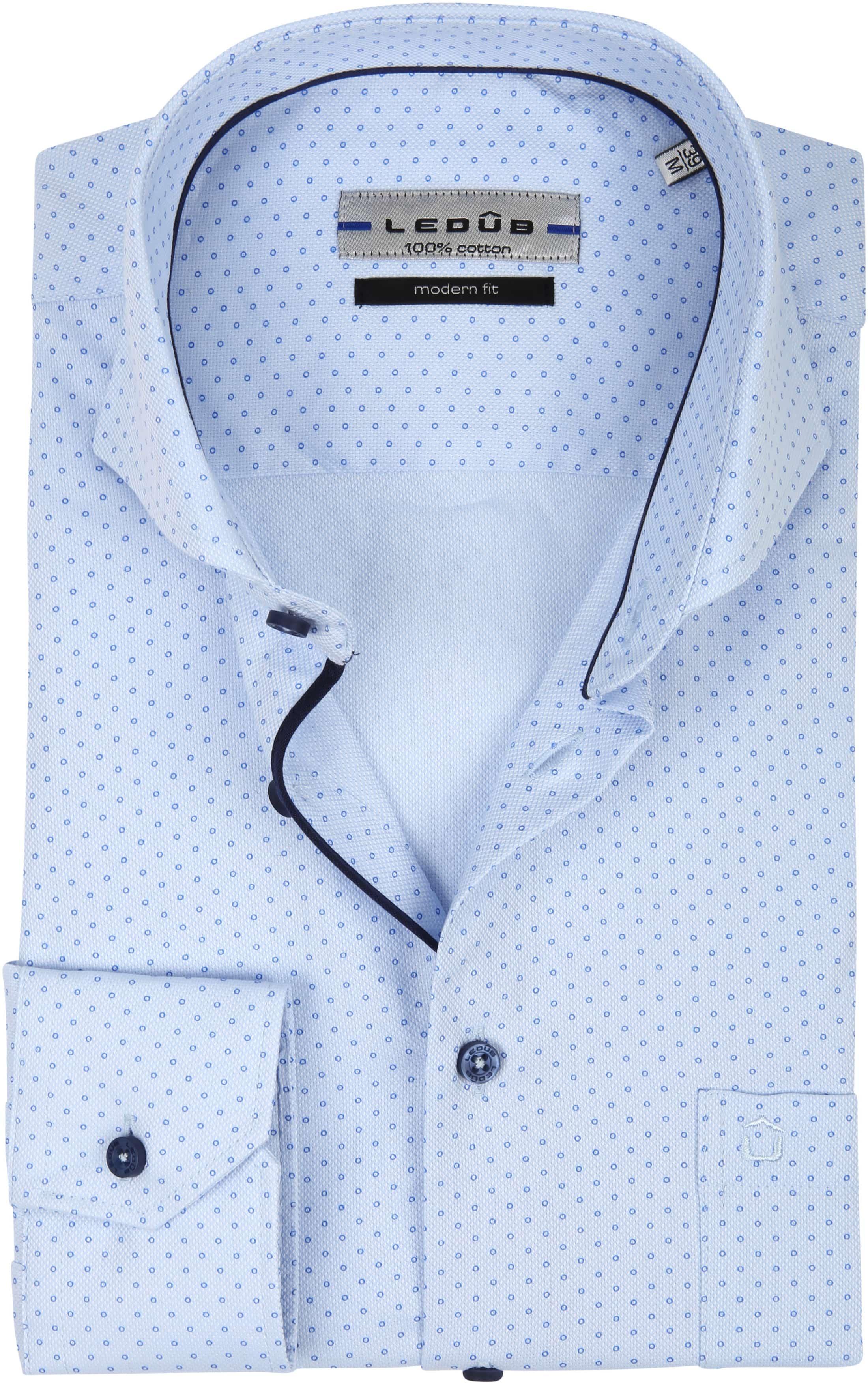 Ledub Overhemd MF Cirkel Blauw foto 0