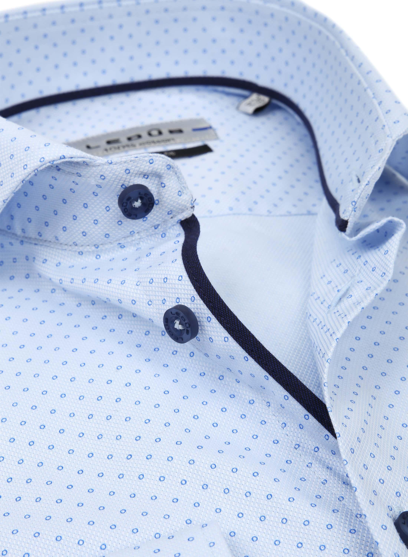Ledub Overhemd MF Cirkel Blauw foto 1