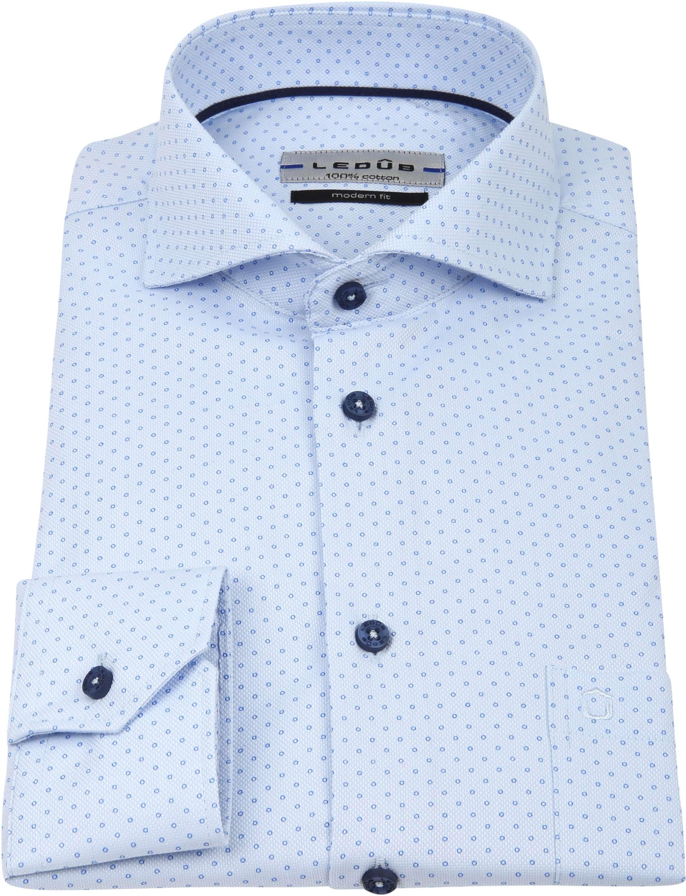Ledub Overhemd MF Cirkel Blauw foto 3