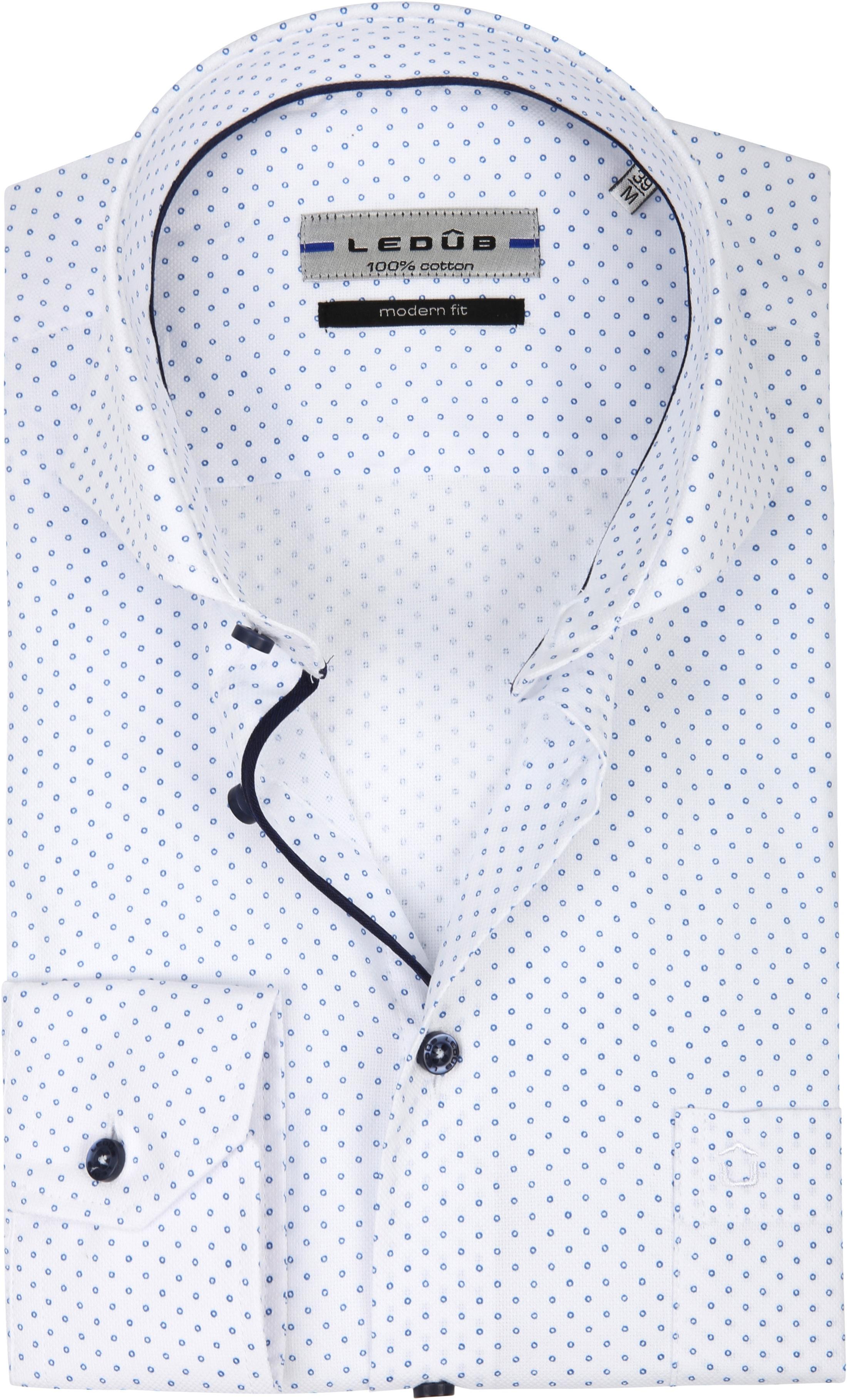 Ledub Overhemd MF Cirkel Wit foto 0