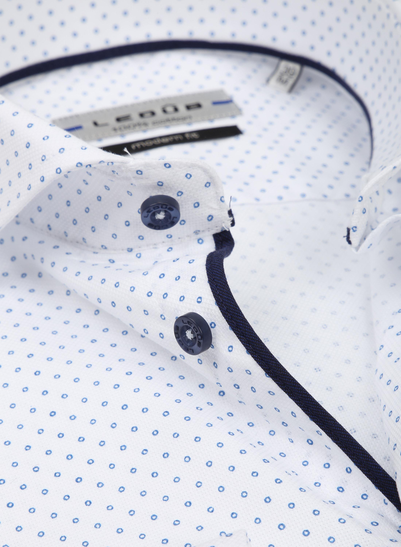 Ledub Overhemd MF Cirkel Wit foto 1