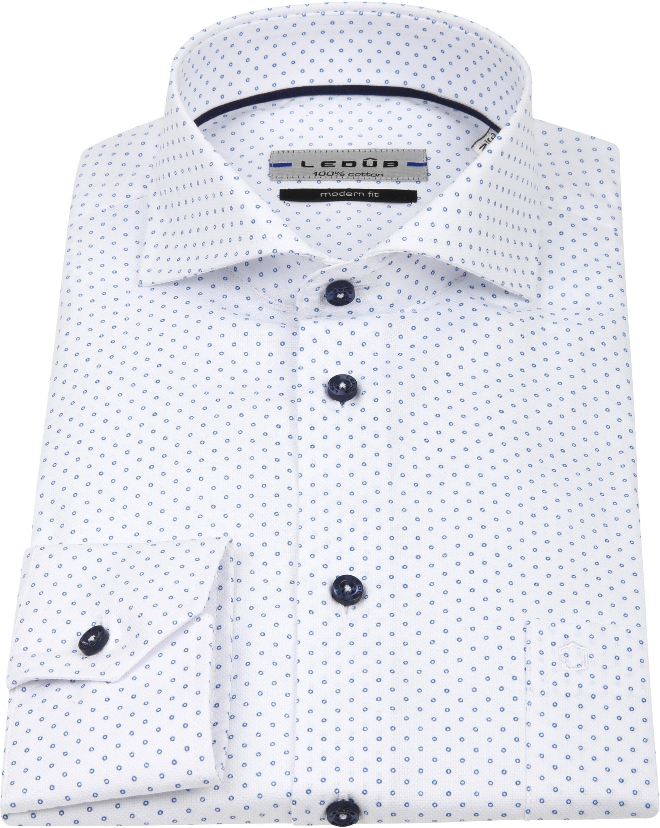 Ledub Overhemd MF Cirkel Wit foto 3
