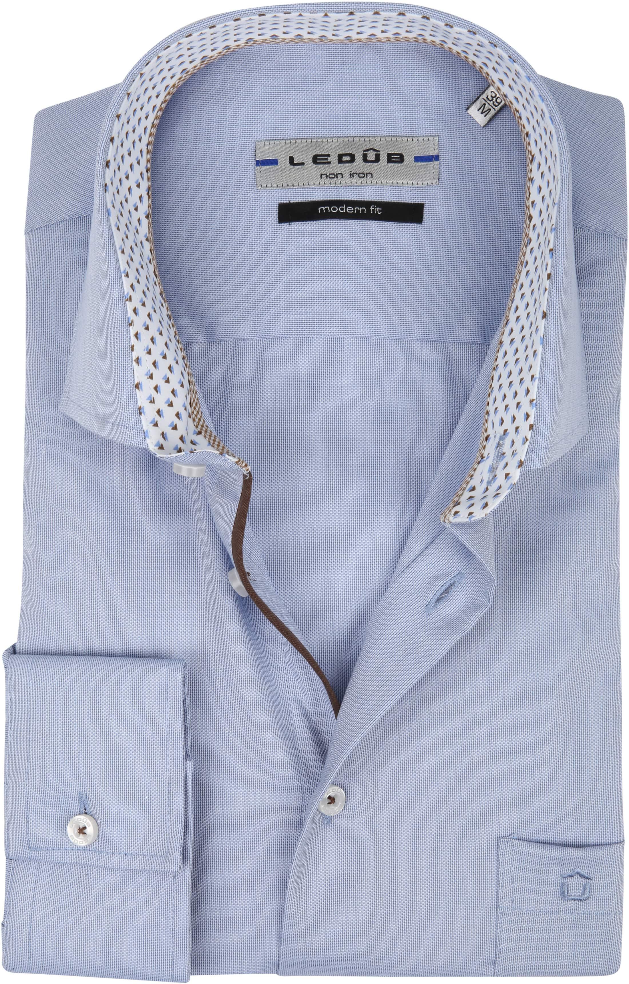 Ledub Overhemd MF Non Iron Blauw foto 0