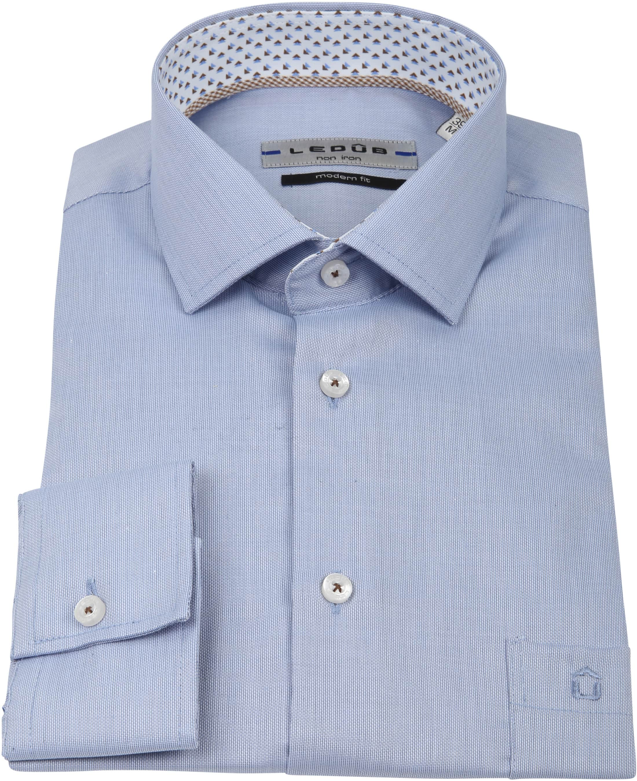 Ledub Overhemd MF Non Iron Blauw foto 3