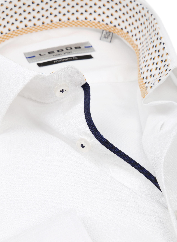 Ledub Overhemd MF Non Iron Wit foto 1
