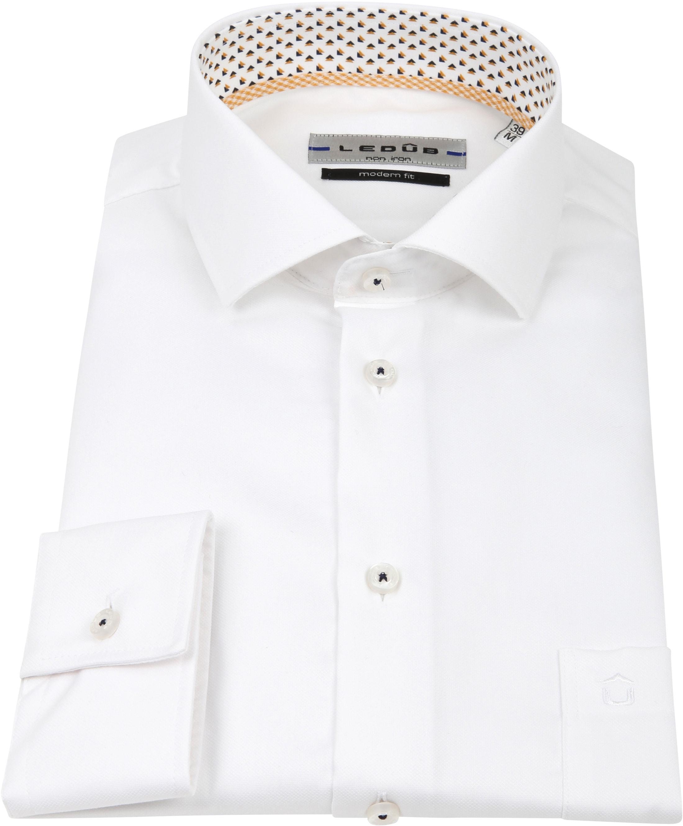 Ledub Overhemd MF Non Iron Wit foto 2