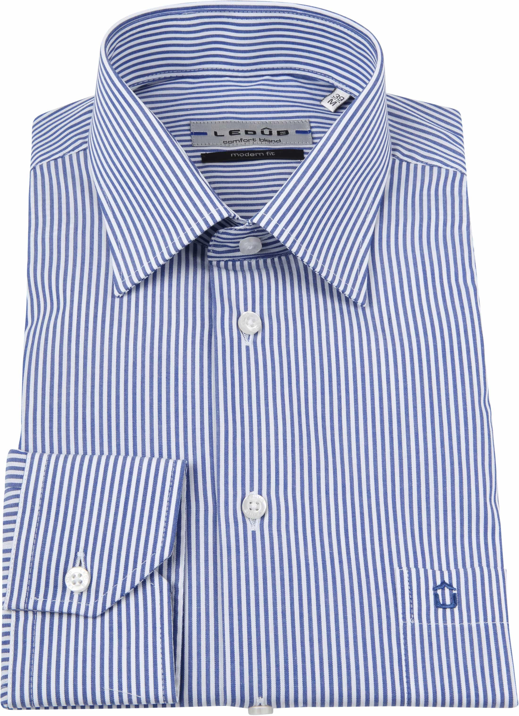 Ledub Overhemd MF Striped Blue