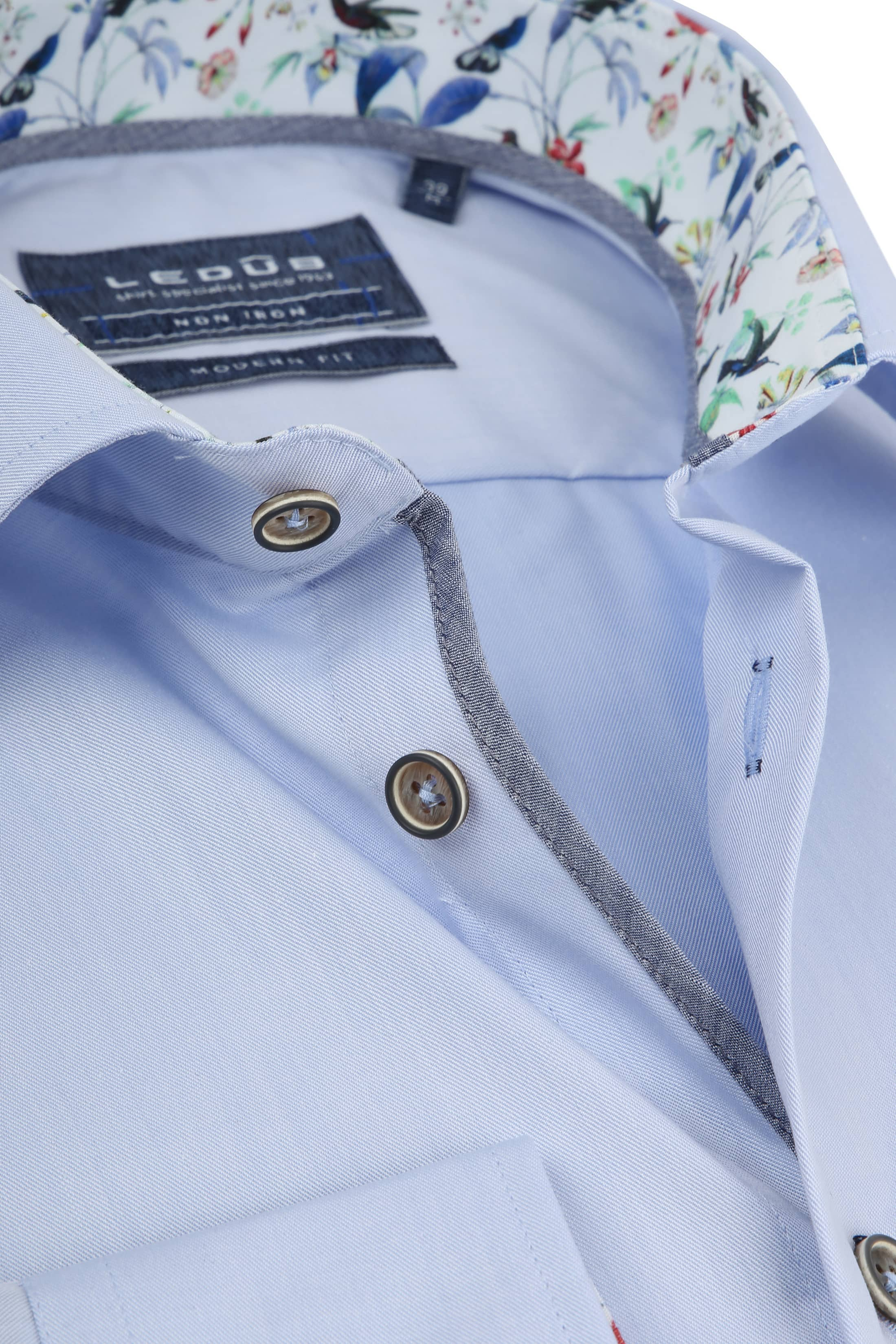 Ledub Overhemd Non Iron MF Blauw foto 1