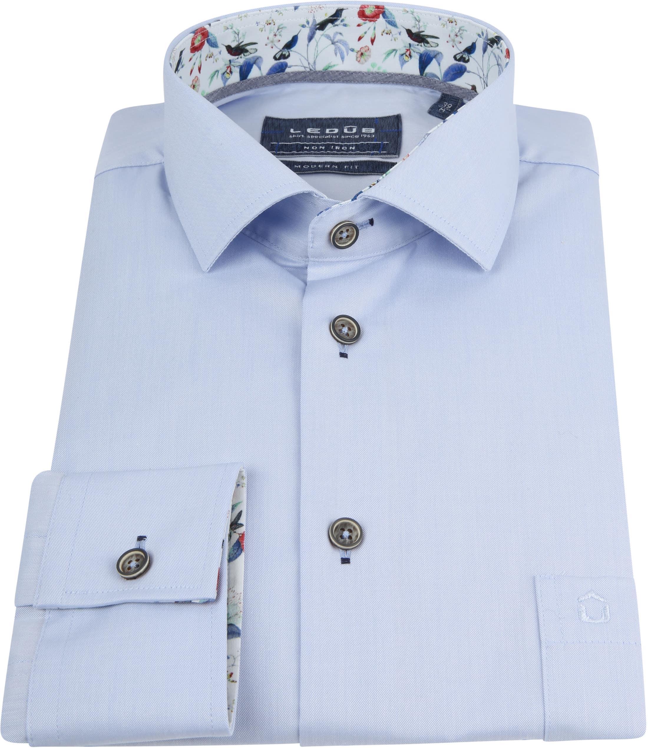 Ledub Overhemd Non Iron MF Blauw foto 2