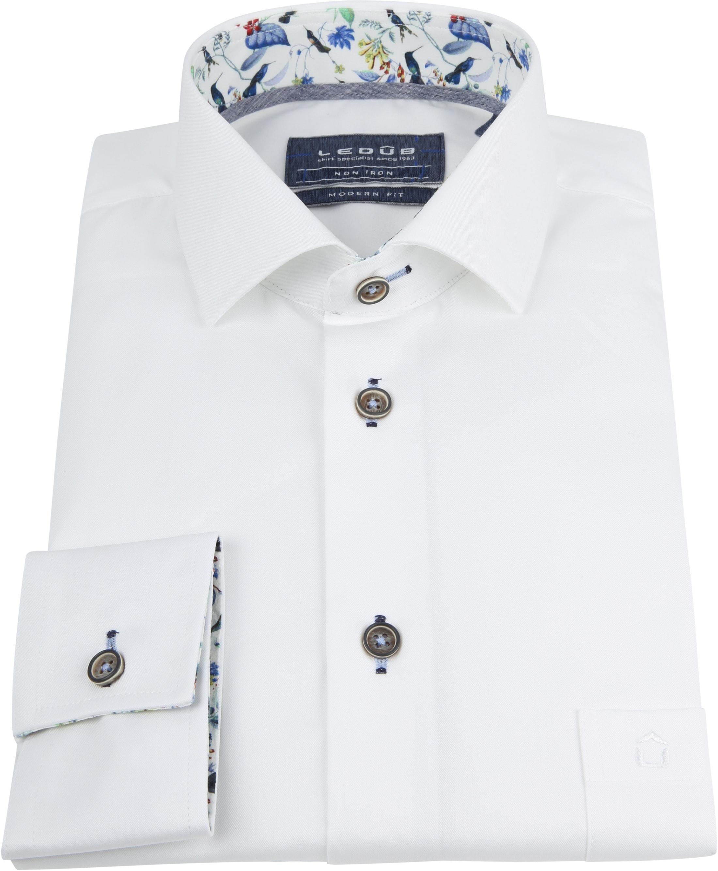 Ledub Overhemd Non Iron MF Wit foto 2