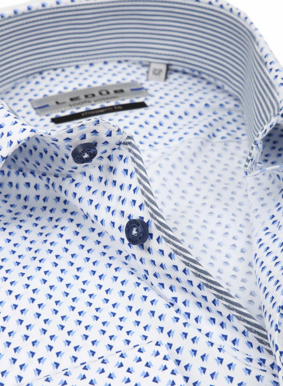 Ledub Overhemd Patroon Blauw foto 1