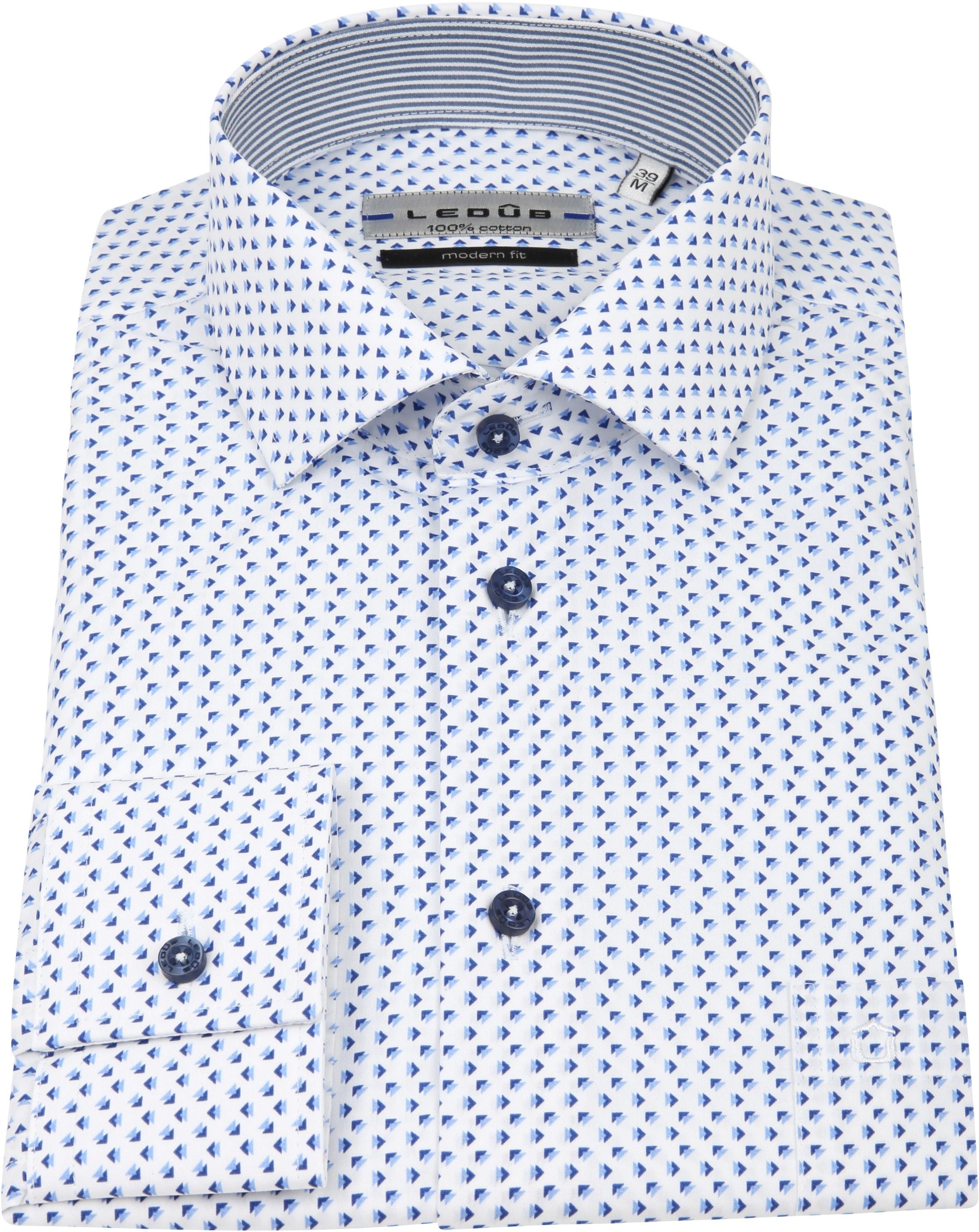 Ledub Overhemd Patroon Blauw foto 2
