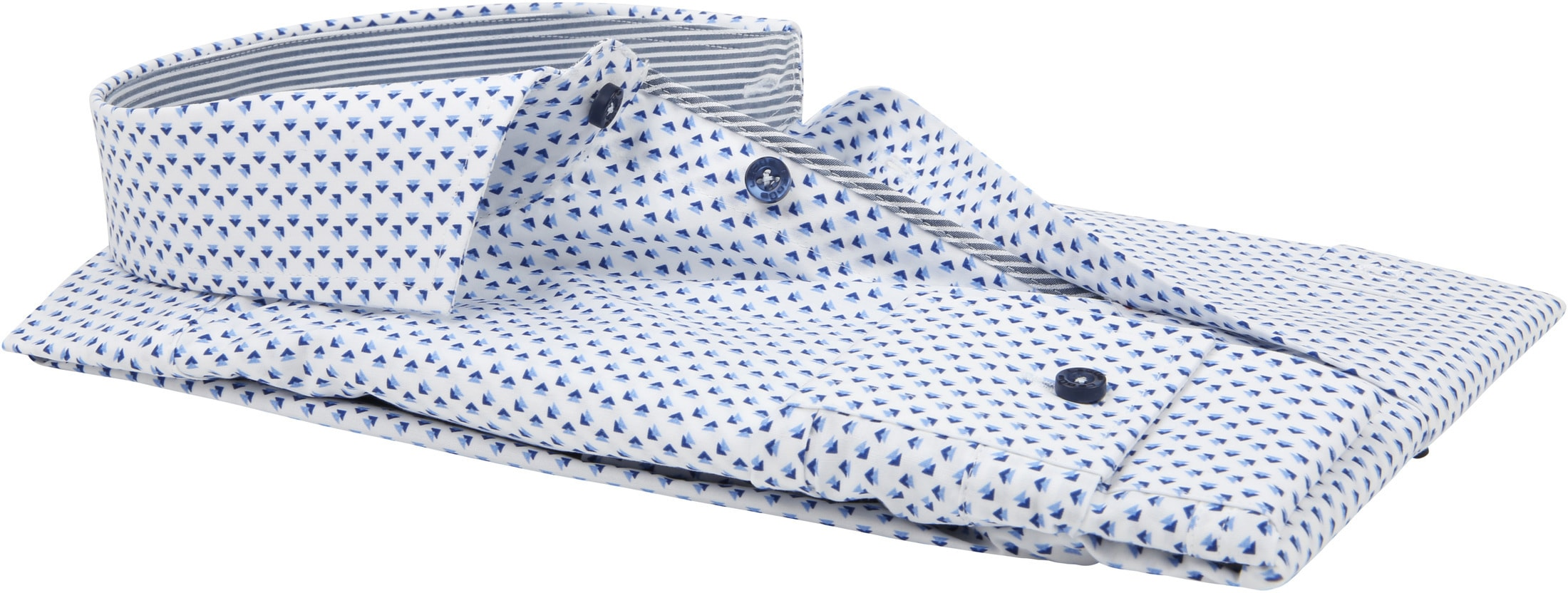 Ledub Overhemd Patroon Blauw foto 3