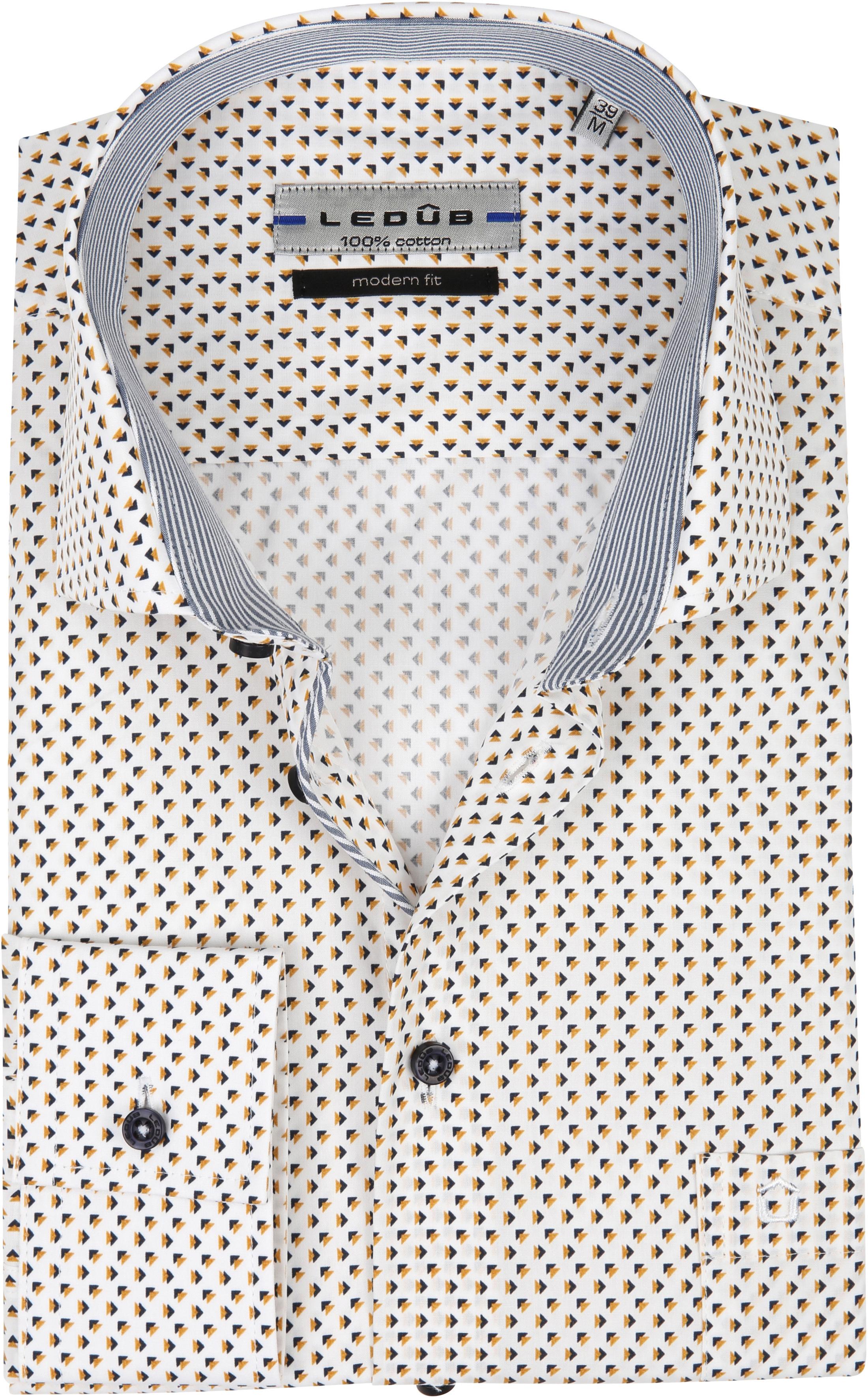 Ledub Overhemd Patroon Geel foto 0