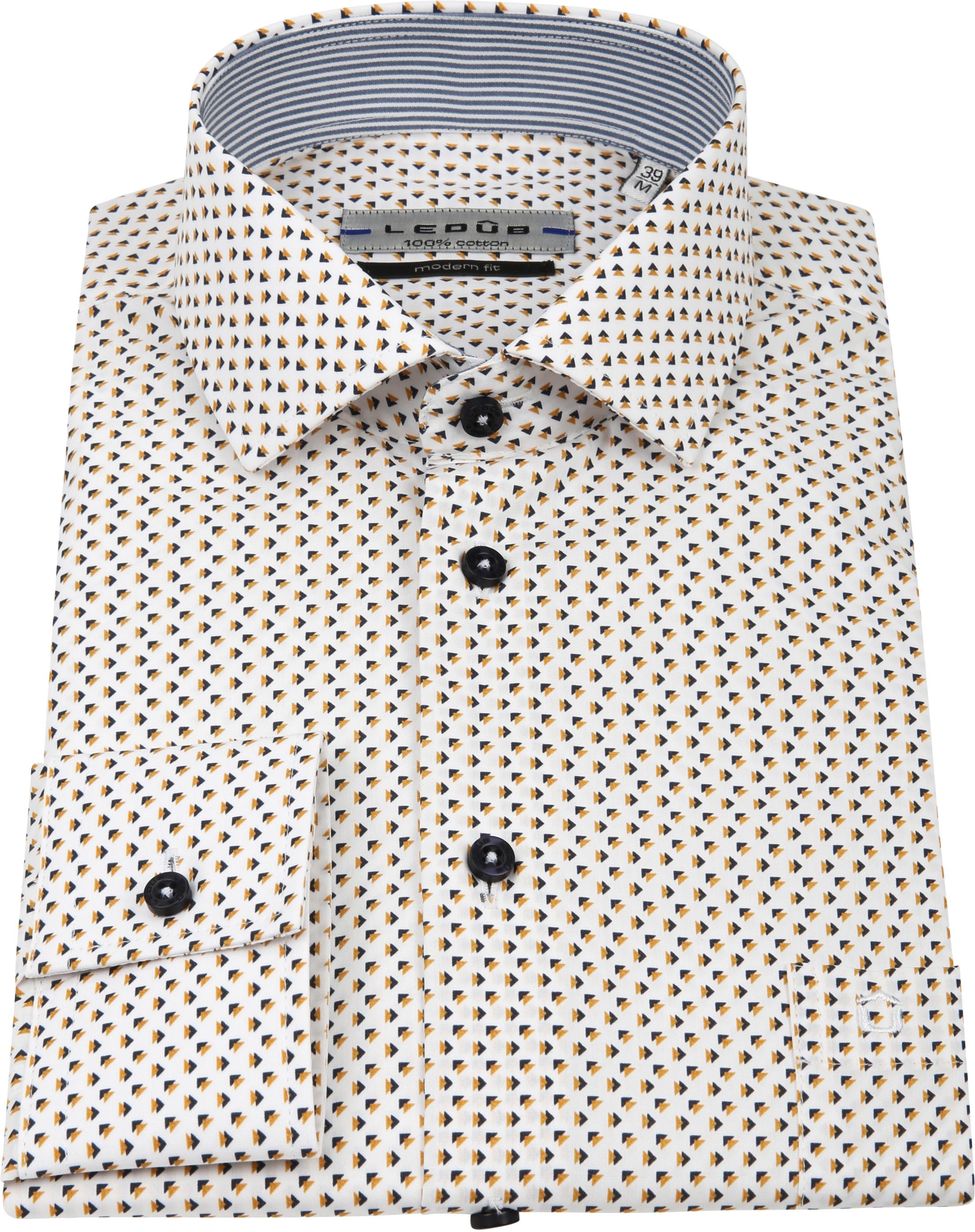 Ledub Overhemd Patroon Geel foto 2