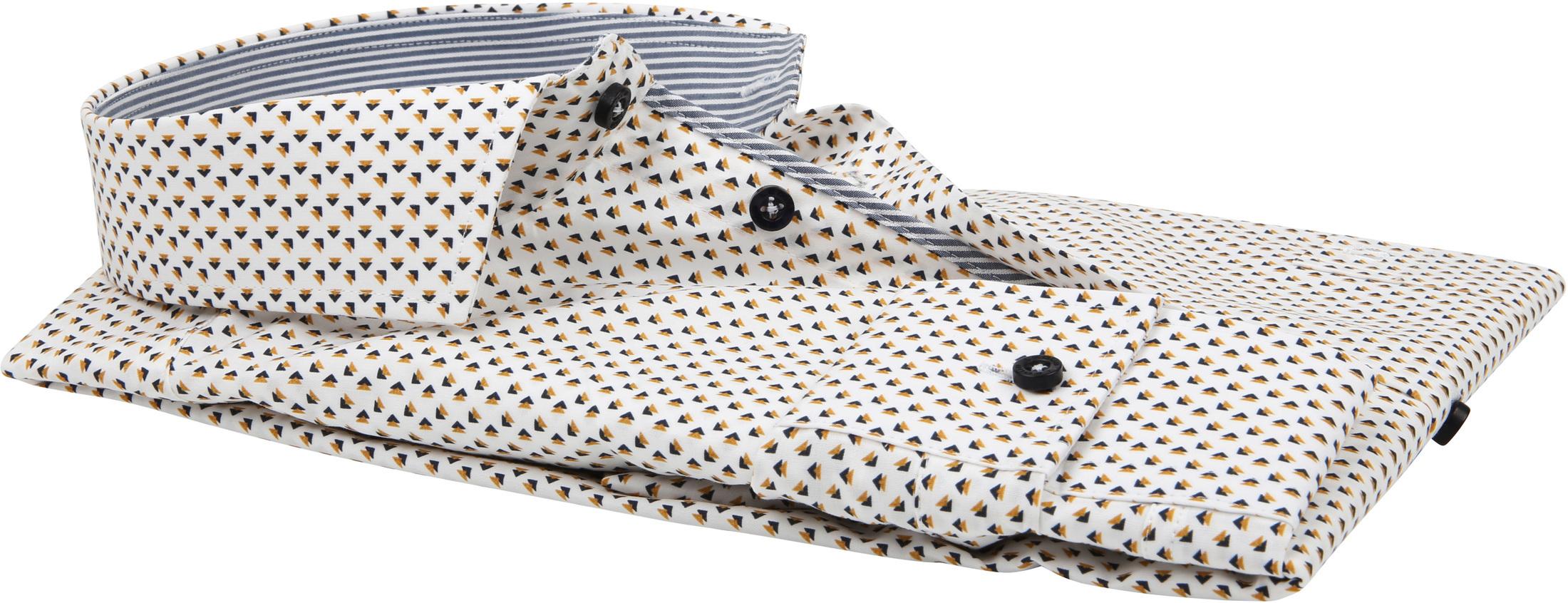 Ledub Overhemd Patroon Geel foto 3