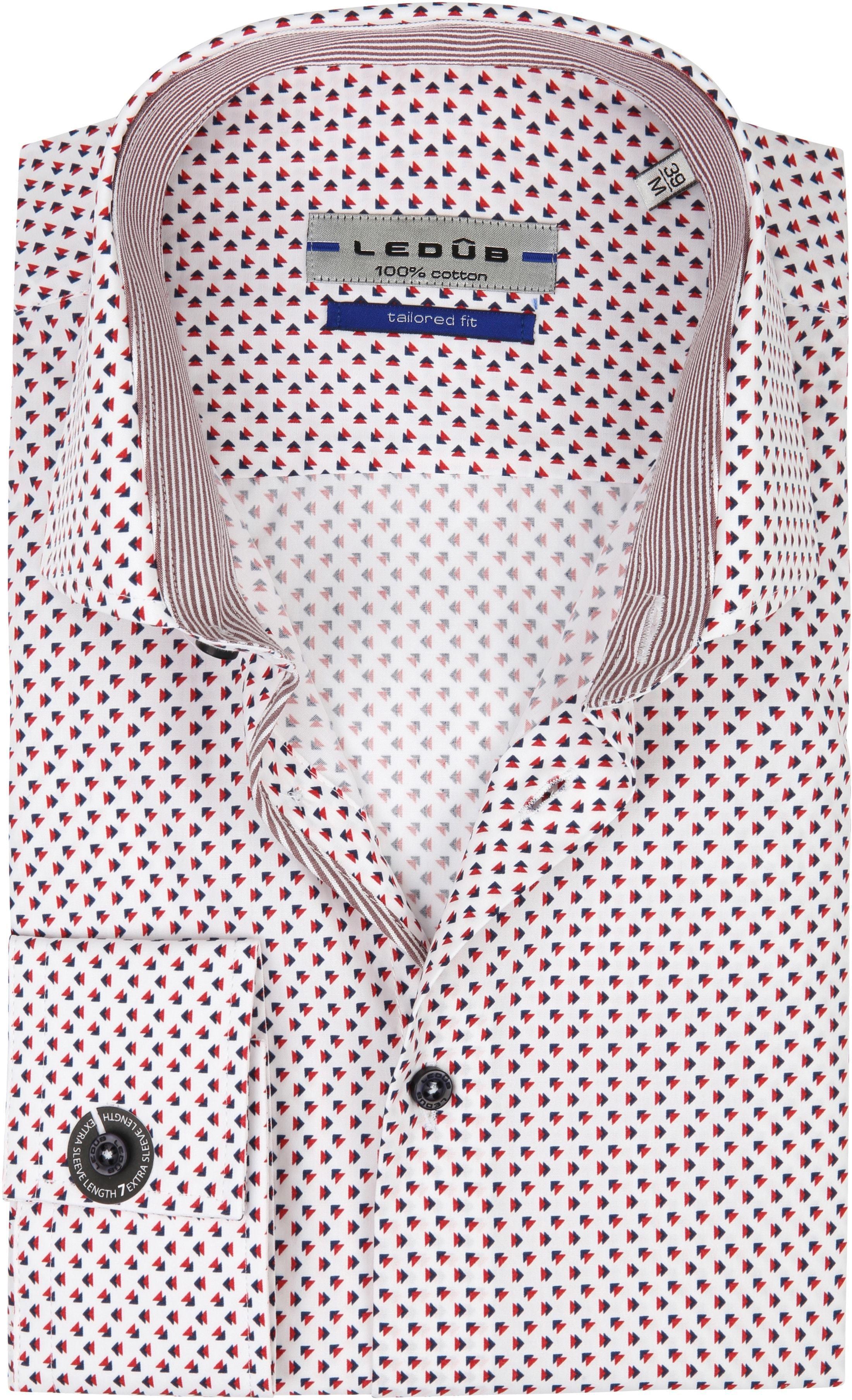 Ledub Overhemd Print Rood Blauw SL7 foto 0